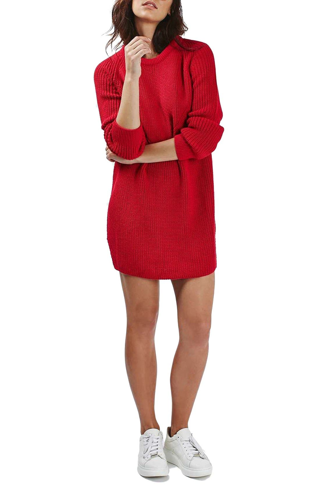 Ribbed Sweater Dress,                             Alternate thumbnail 2, color,                             600