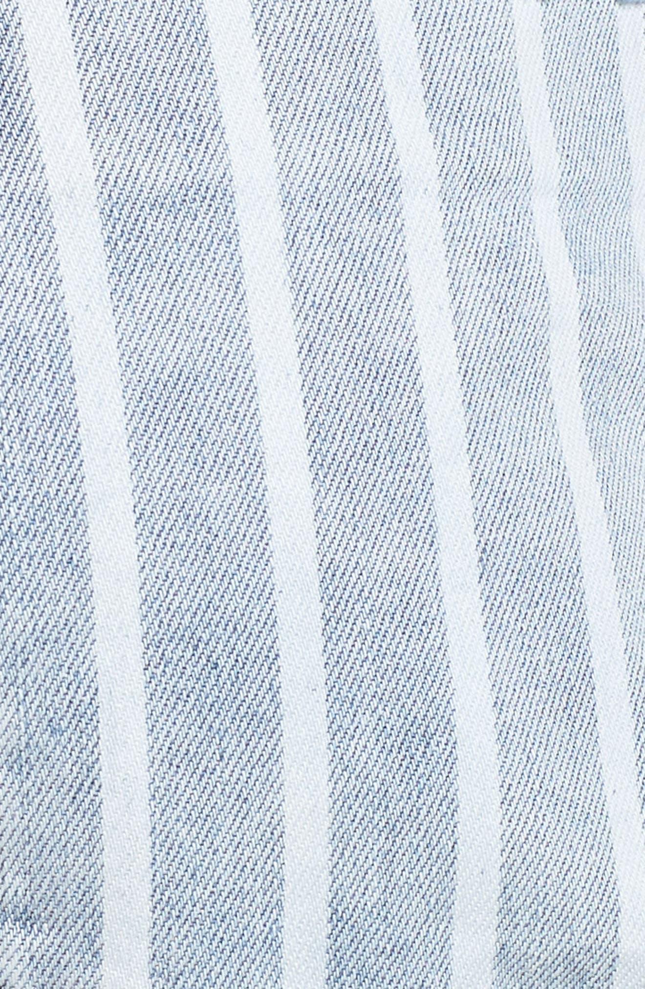 Bandit Stripe Denim Shorts,                             Alternate thumbnail 6, color,                             400