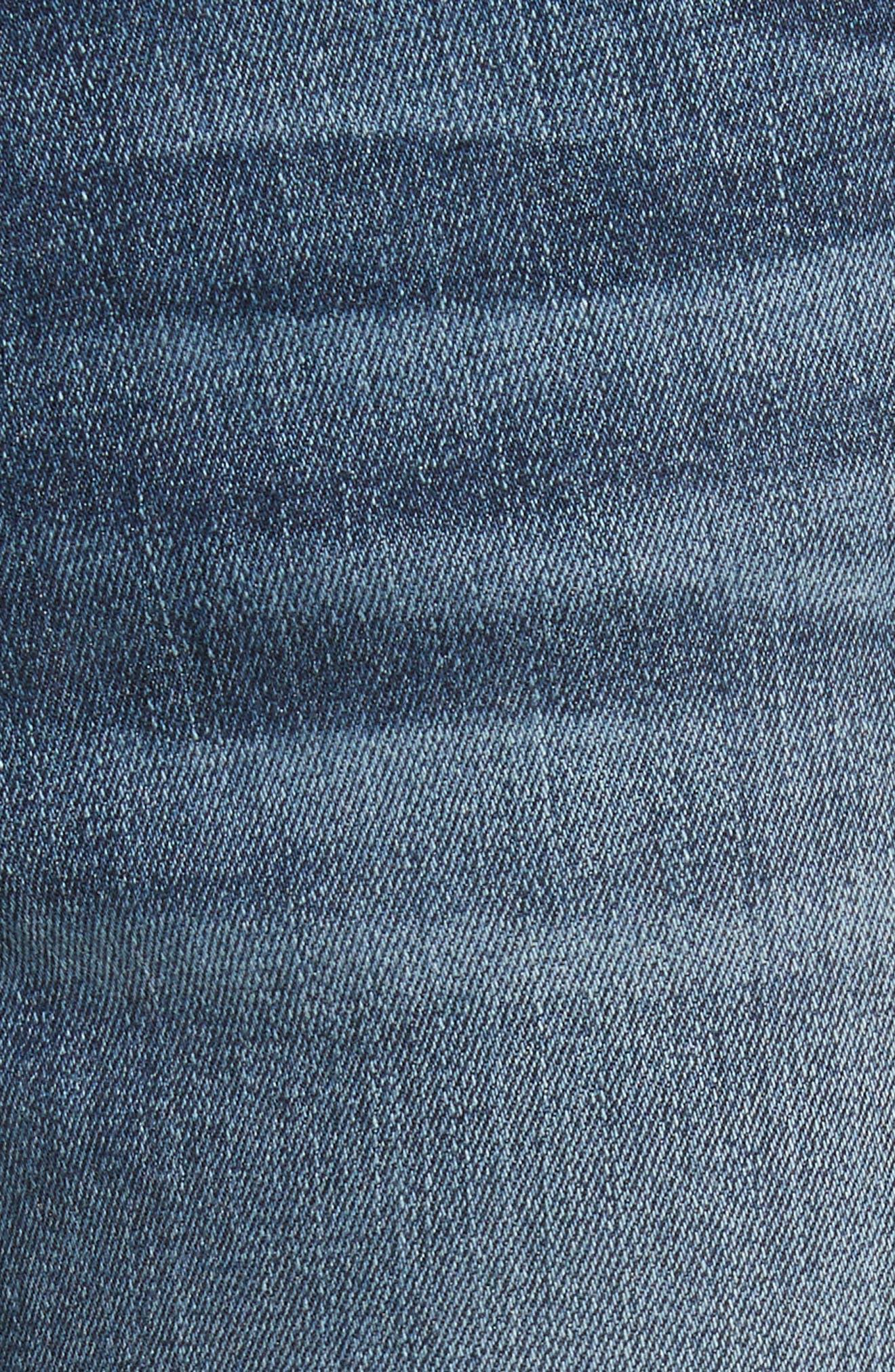 Le High Raw Hem Skinny Jeans,                             Alternate thumbnail 5, color,                             420
