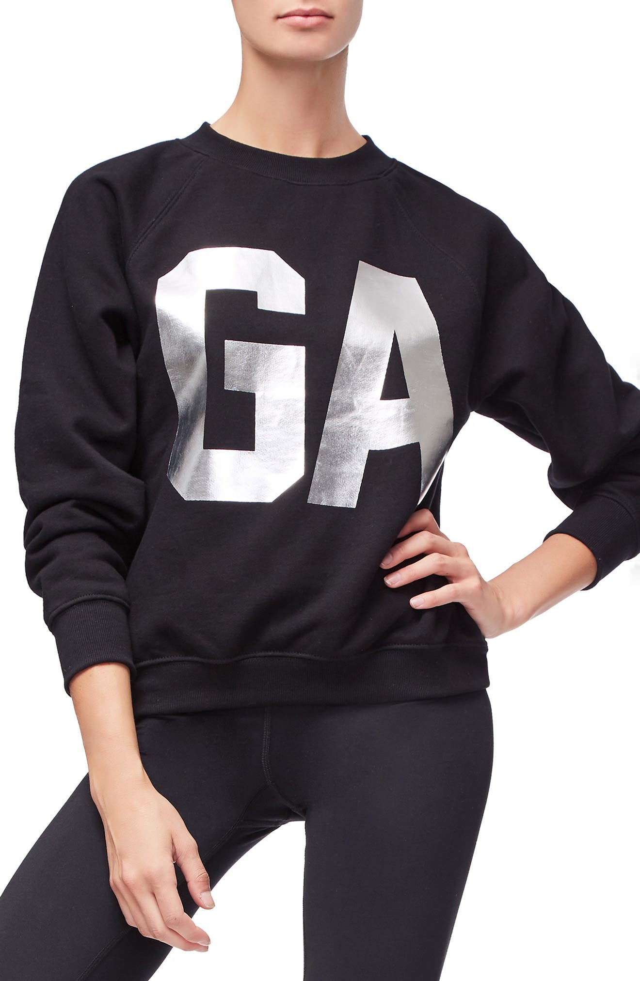 Goodies Varsity Sweatshirt,                             Main thumbnail 1, color,                             BLACK002
