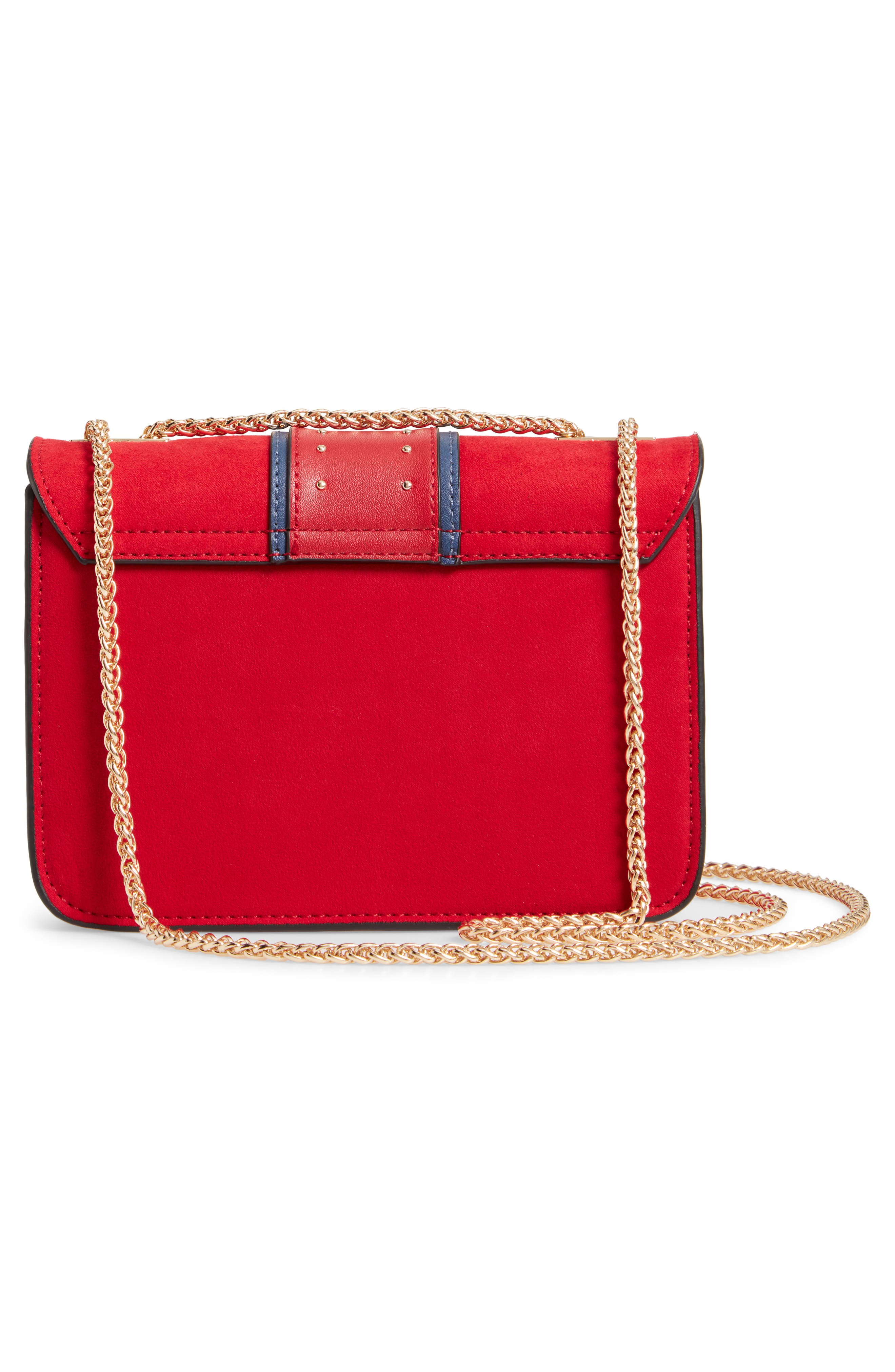 Panther Crossbody Bag,                             Alternate thumbnail 3, color,                             RED