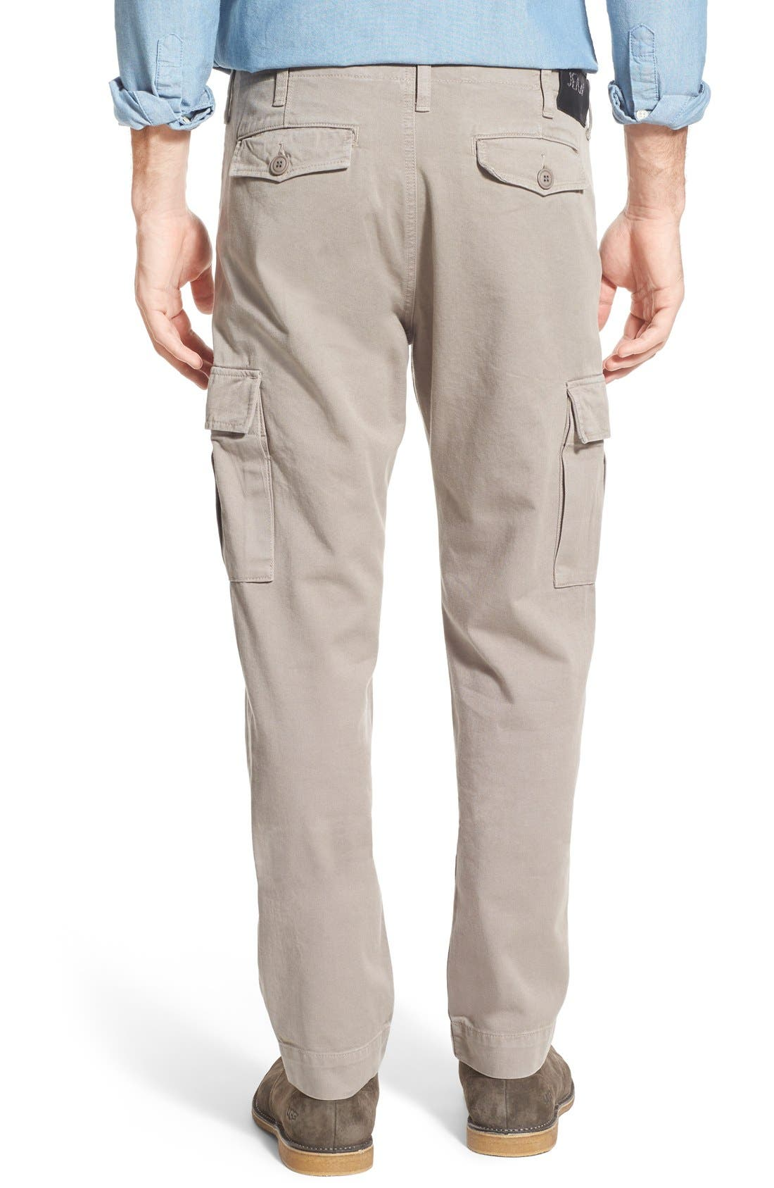 Slim Fit Selvedge Twill Cargo Pants,                             Alternate thumbnail 3, color,                             086