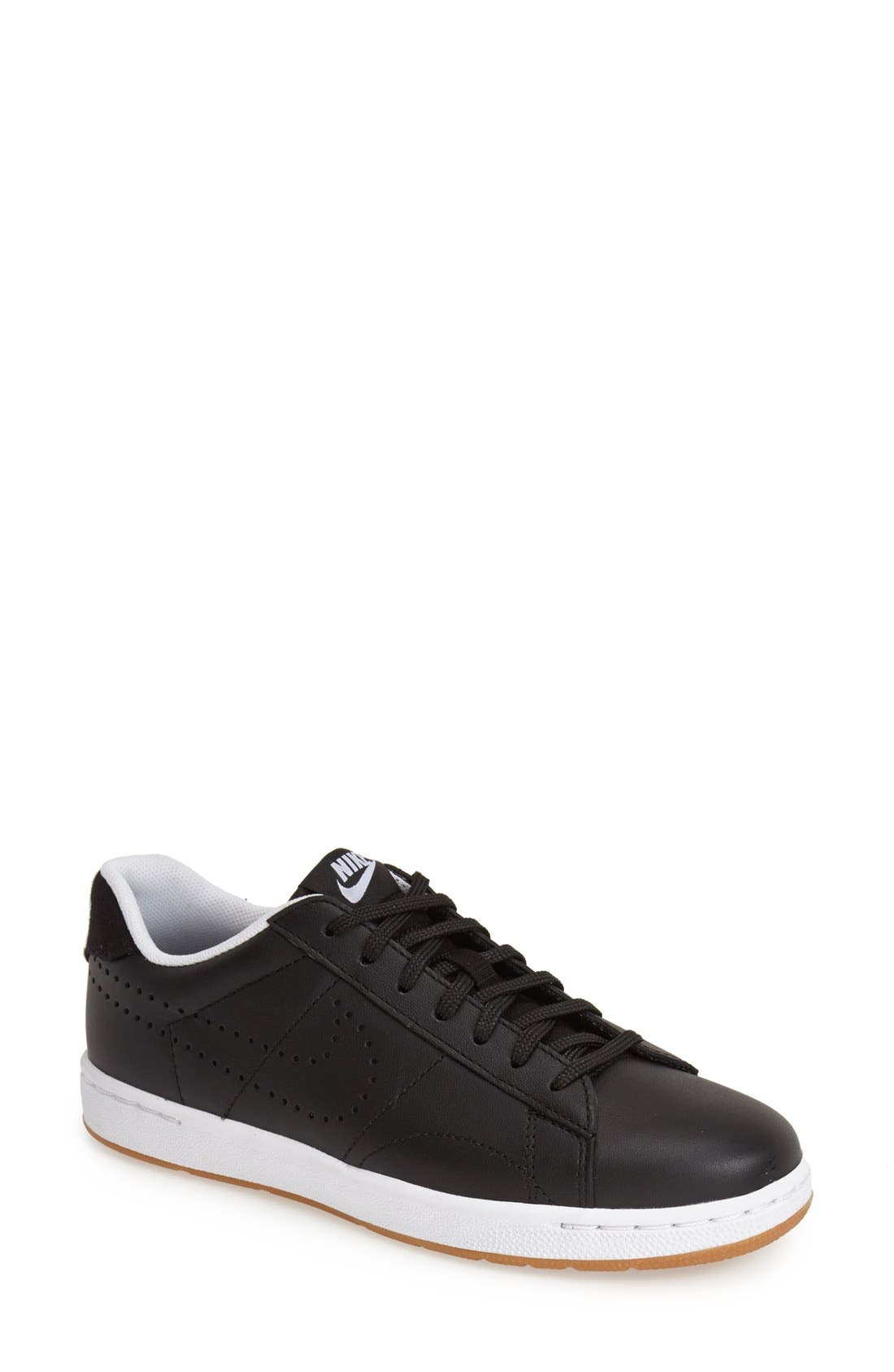 'Classic Ultra' Leather Sneaker,                             Main thumbnail 1, color,                             001