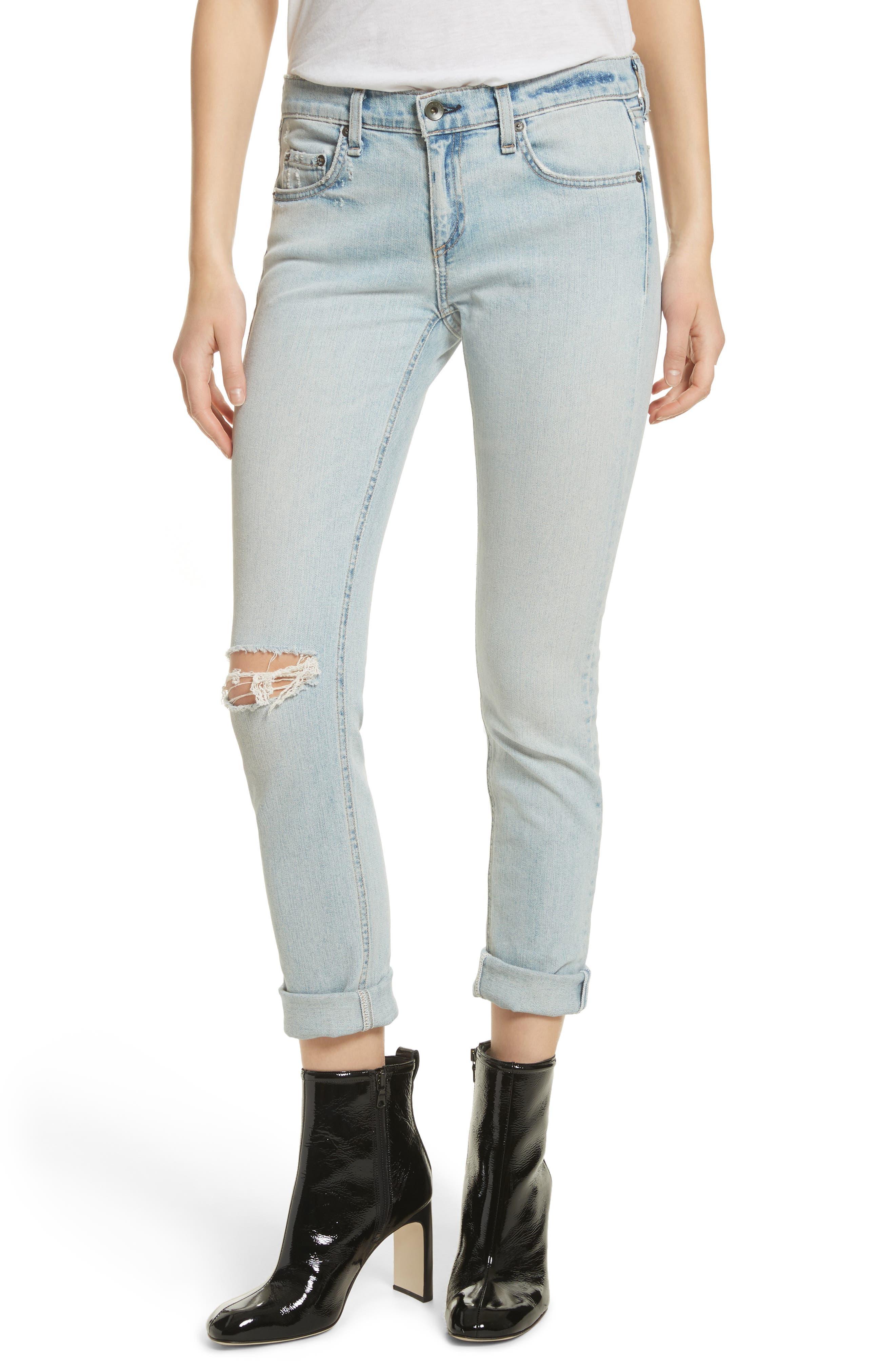The Dre Slim Boyfriend Jeans,                             Main thumbnail 1, color,                             450