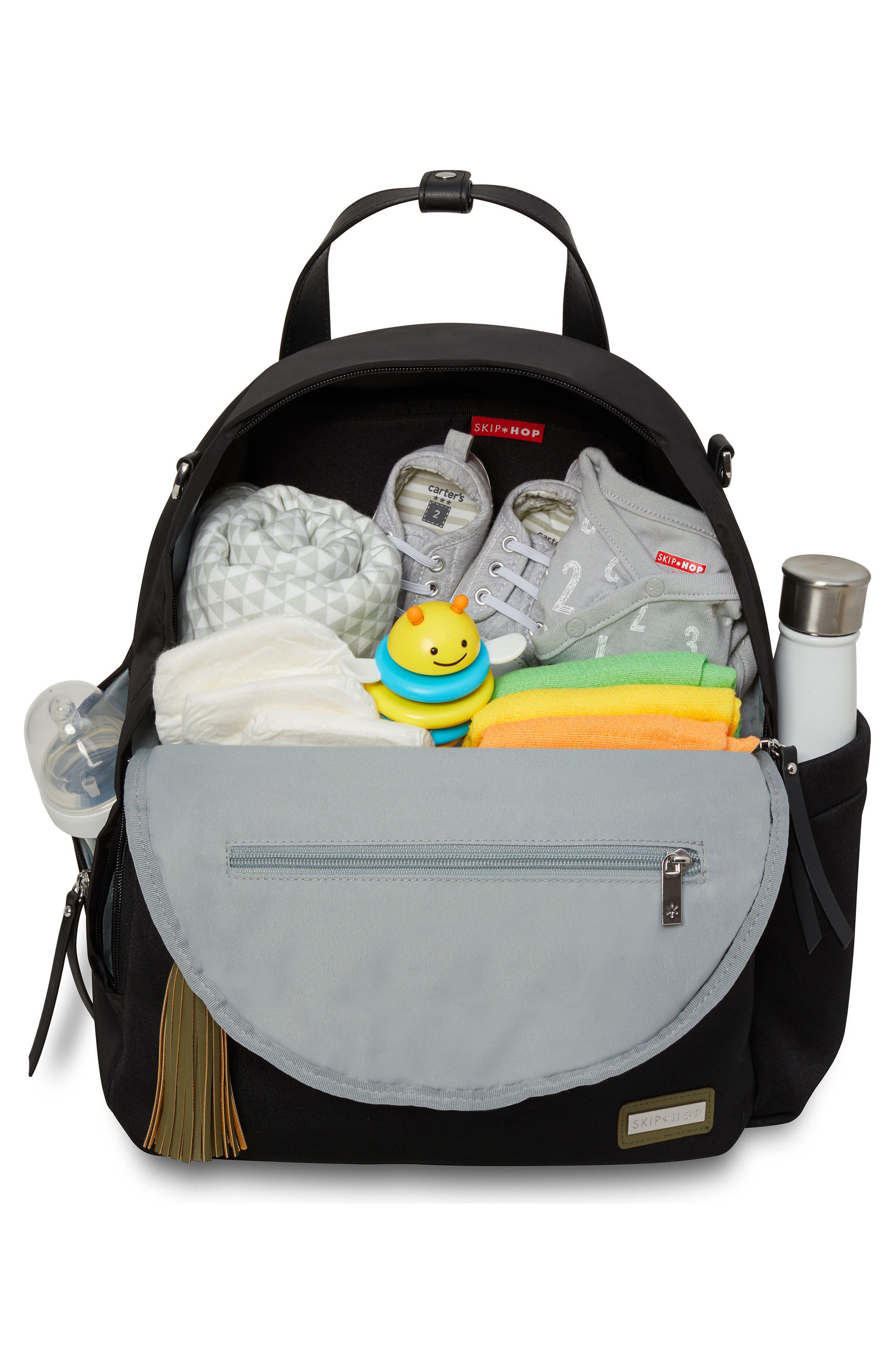 Nolita Neoprene Diaper Backpack,                             Alternate thumbnail 3, color,                             BLACK/ DARK CAMO