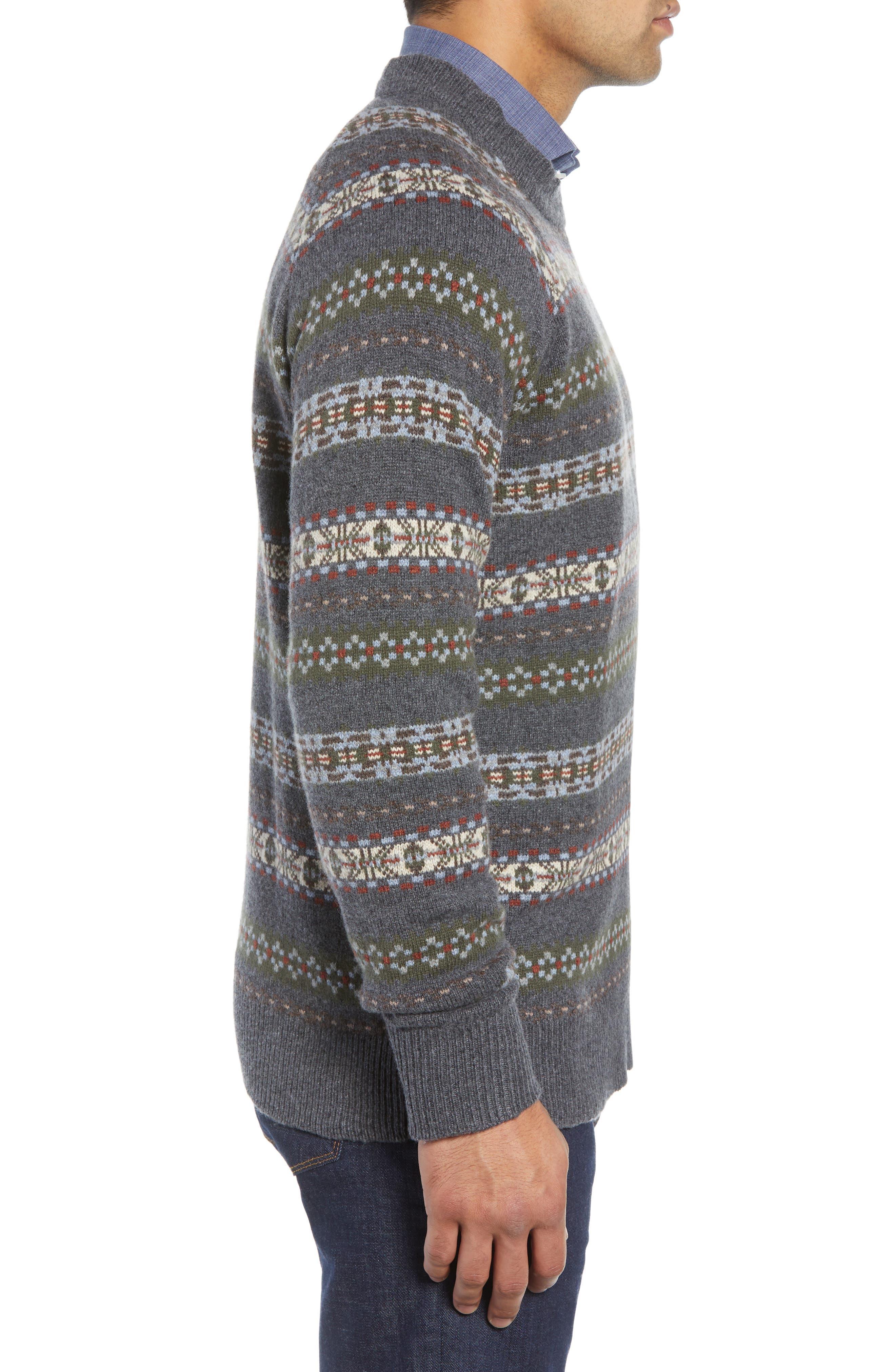 Mountainside Fair Isle Crewneck Sweater,                             Alternate thumbnail 3, color,                             017