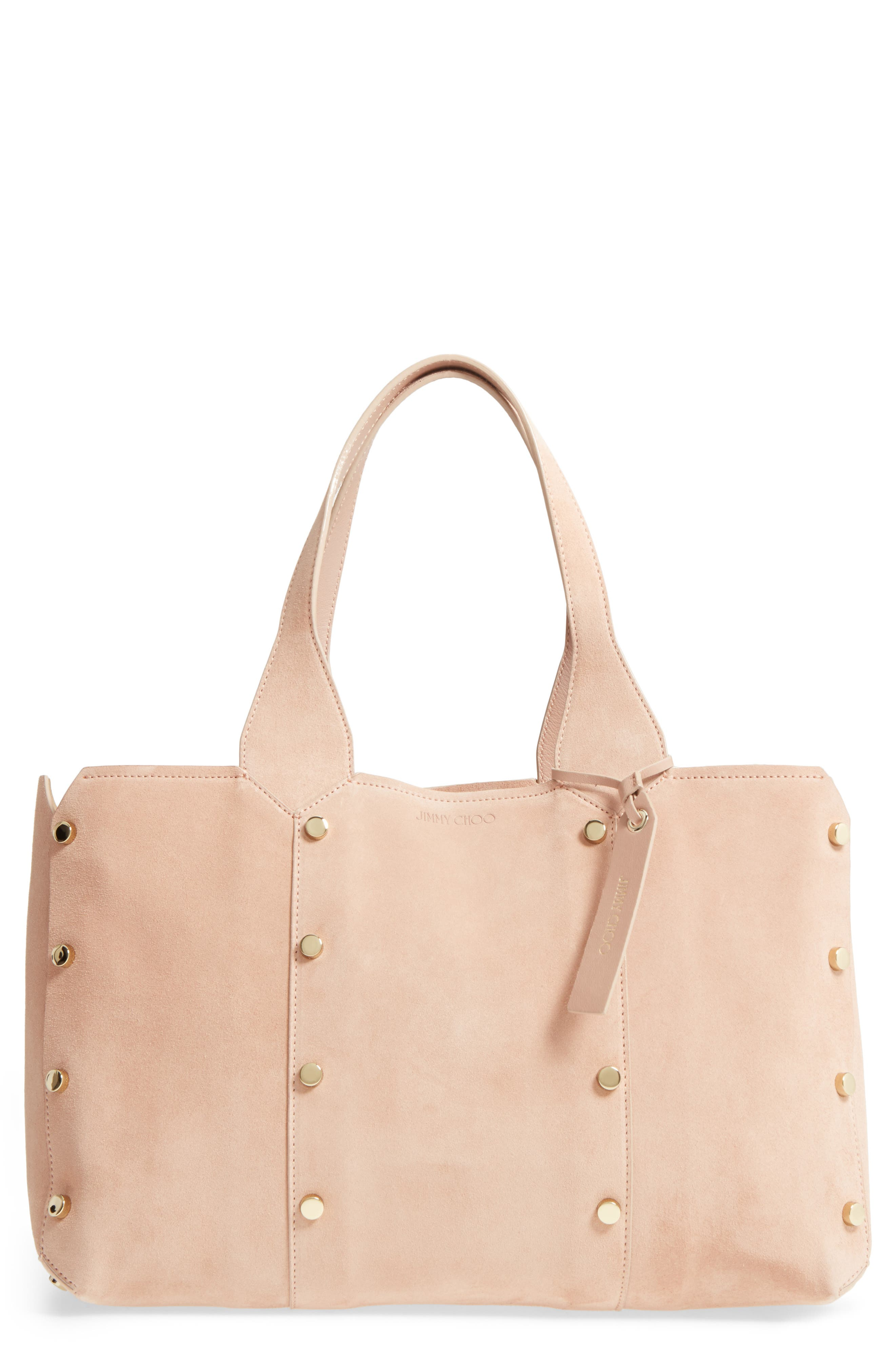 Small Lockett Suede Shopper,                             Main thumbnail 1, color,                             680