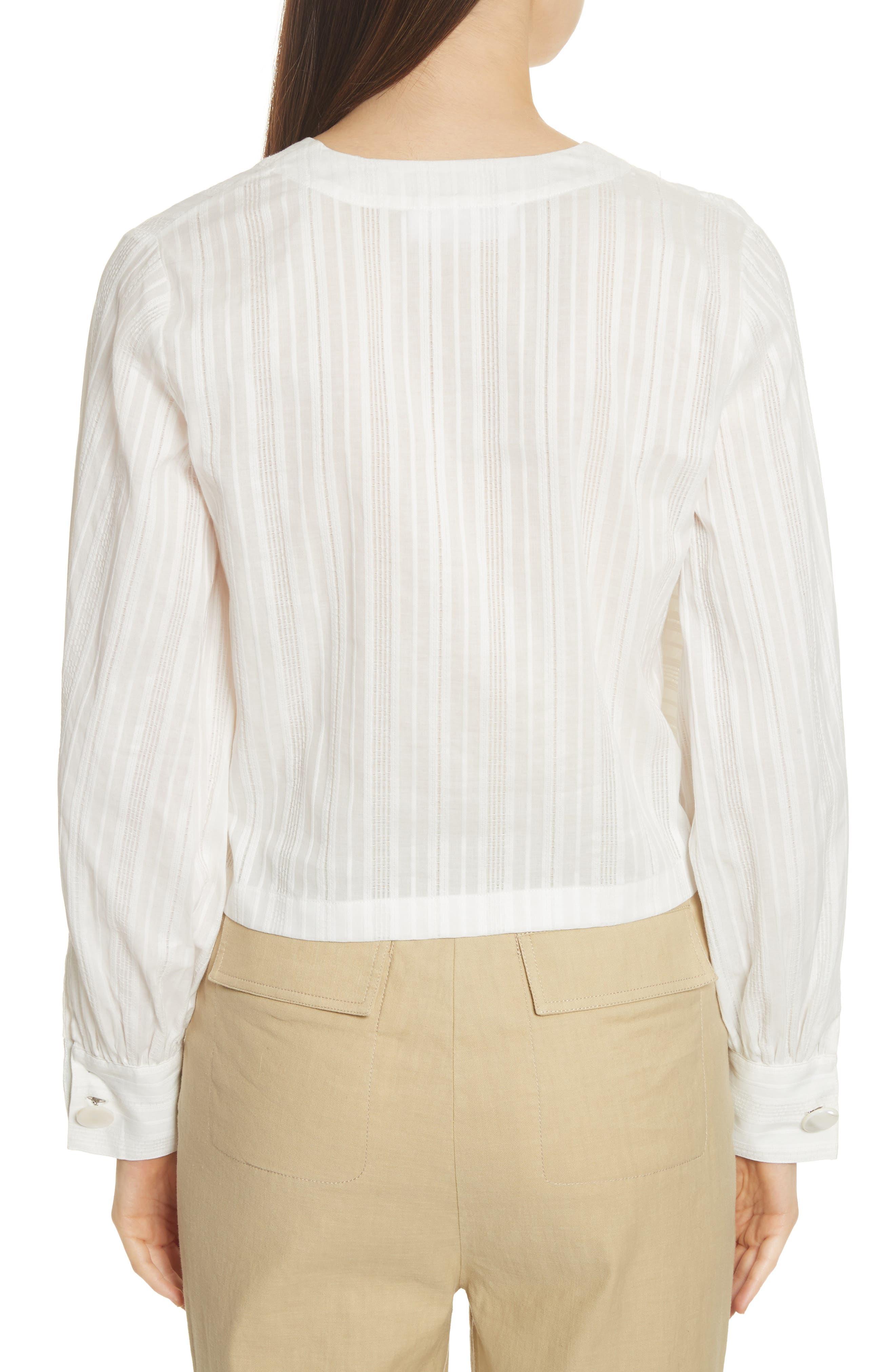 Stripe Drape Front Blouse,                             Alternate thumbnail 2, color,                             900
