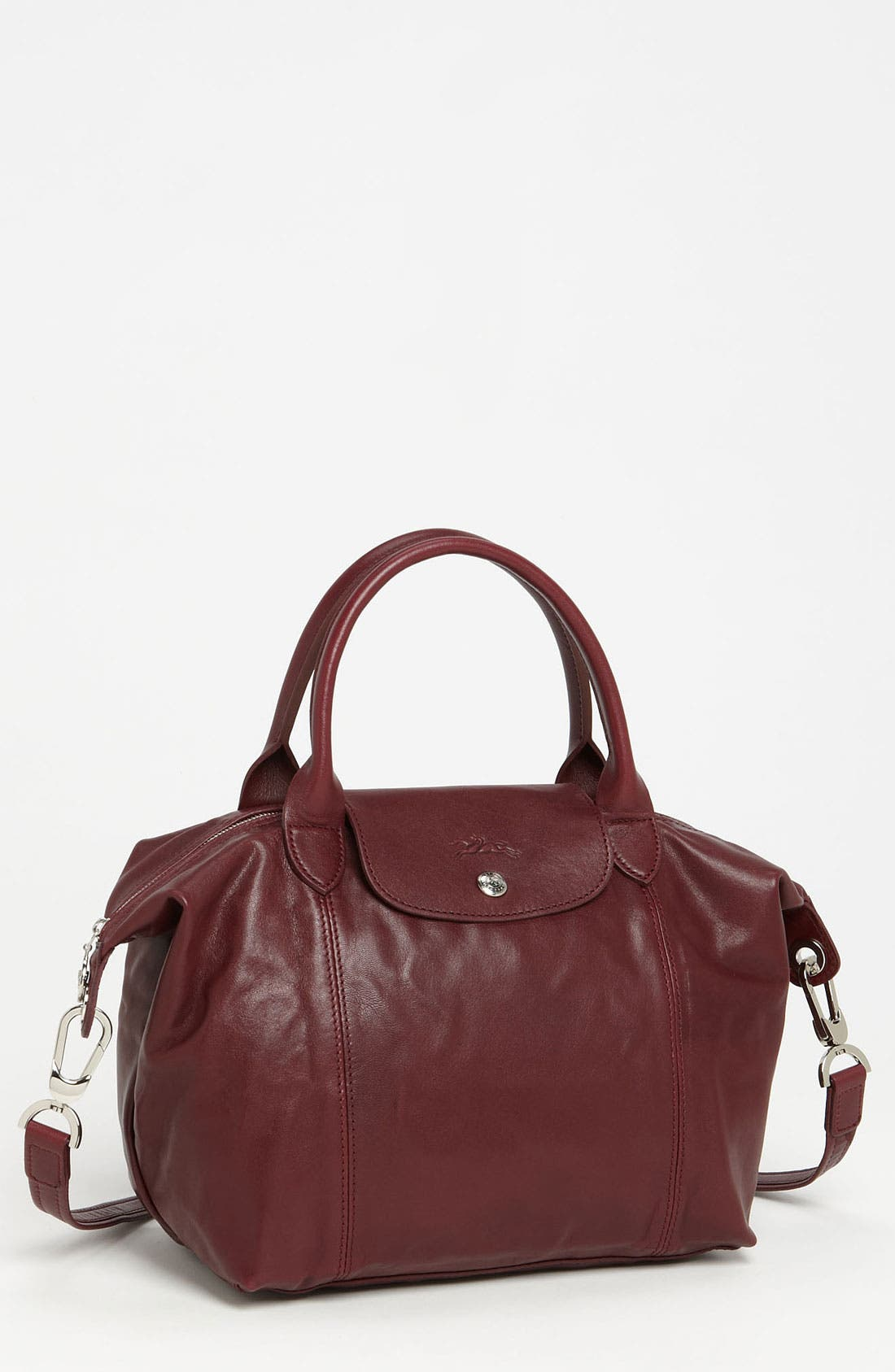 Small 'Le Pliage Cuir' Leather Top Handle Tote,                             Main thumbnail 27, color,