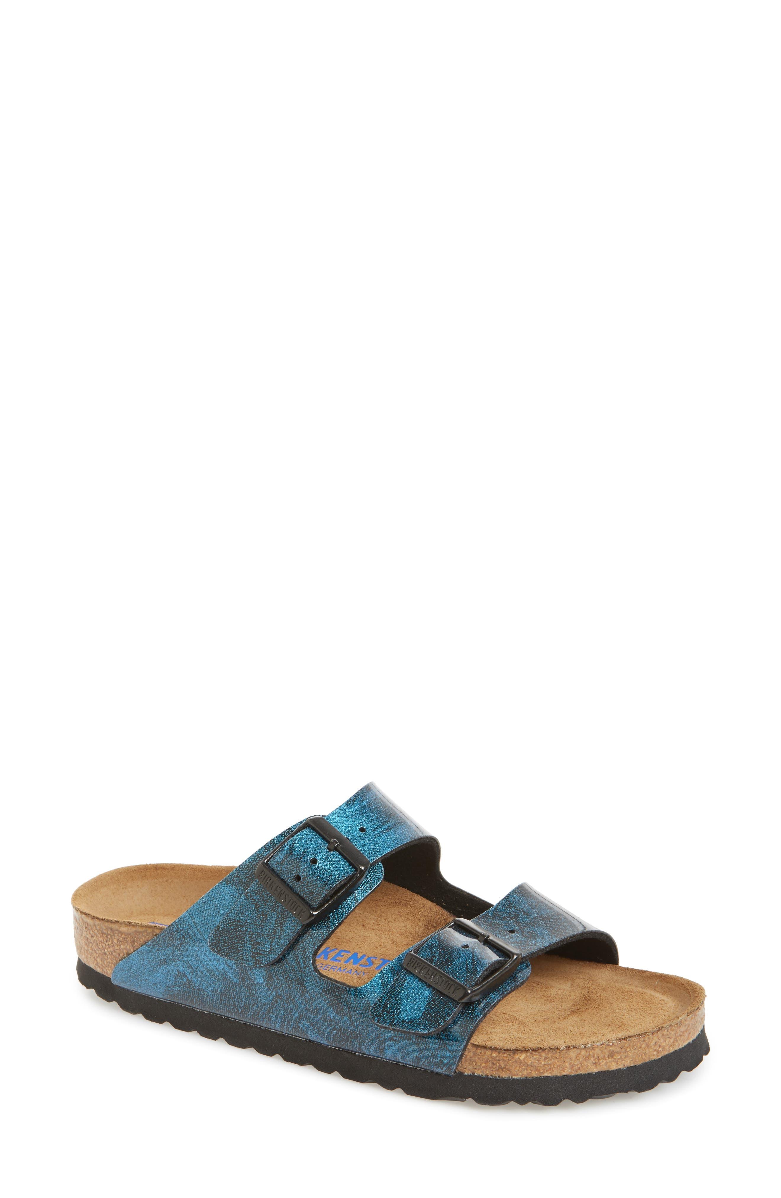 Arizona Birko-Flor Soft Footbed Sandal,                         Main,                         color, MILKY WAY BLUE