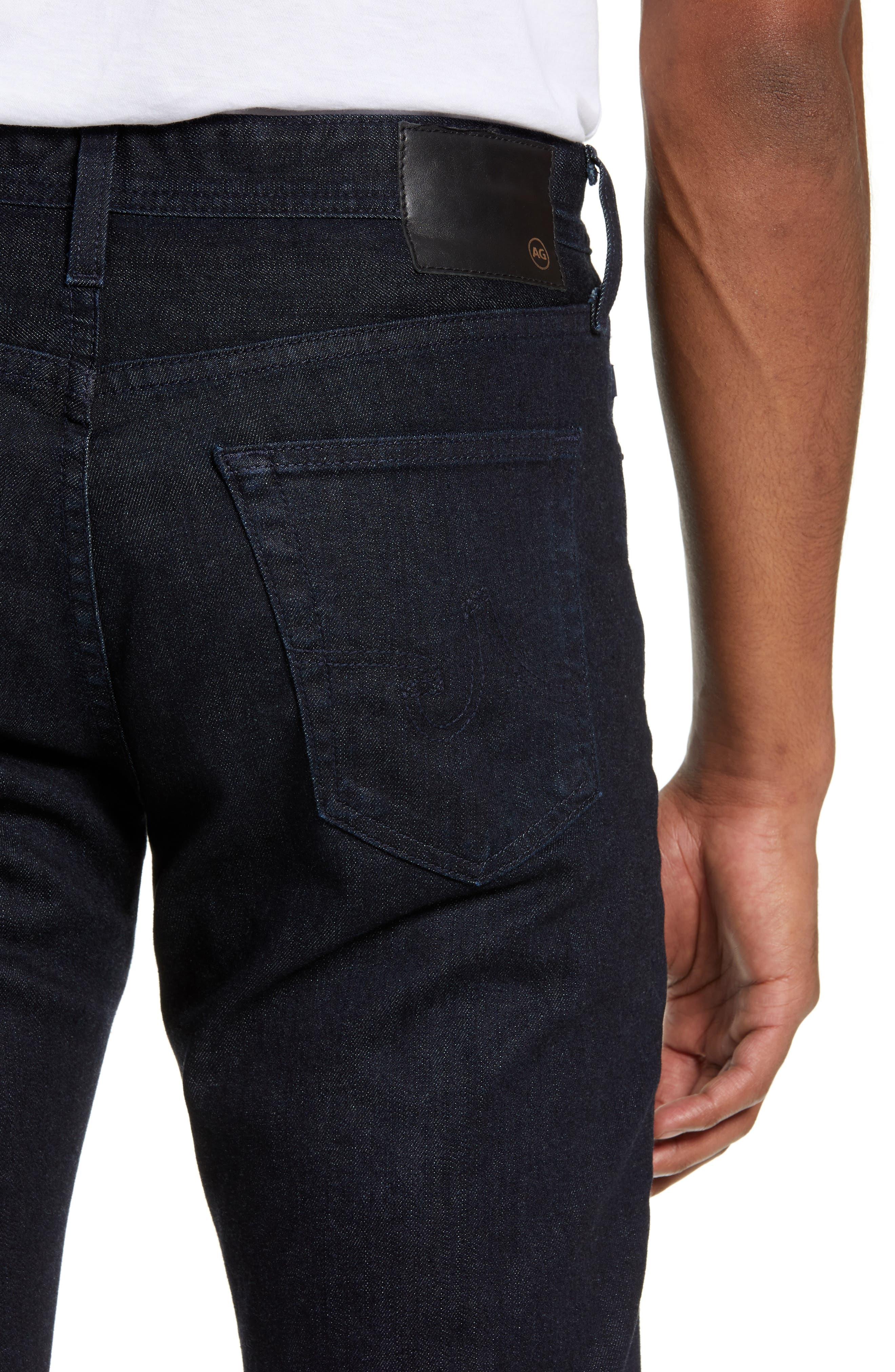 Everett Slim Straight Leg Jeans,                             Alternate thumbnail 4, color,                             BARNES