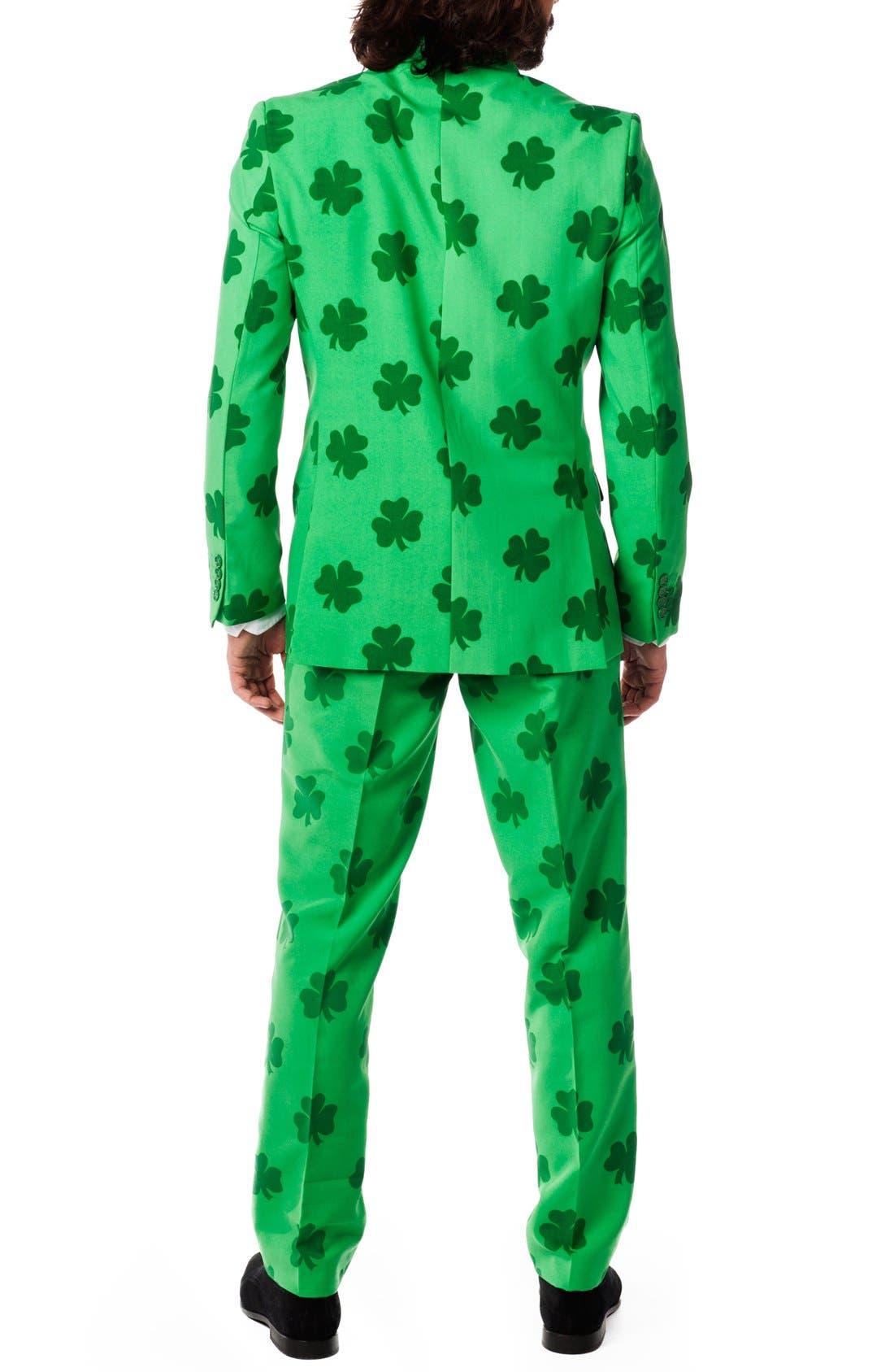 'Patrick' Trim Fit Two-Piece Suit with Tie,                             Alternate thumbnail 5, color,                             320