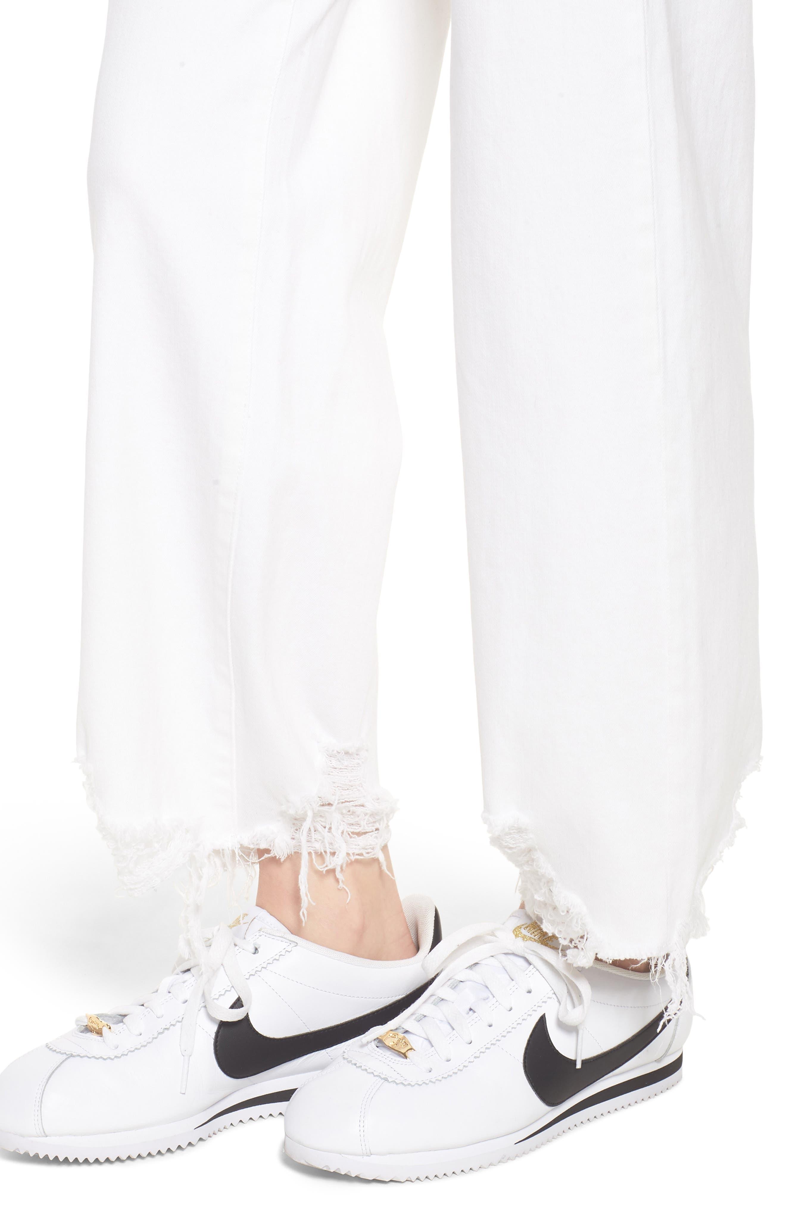 Hepburn High Waist Wide Leg Jeans,                             Alternate thumbnail 4, color,                             100