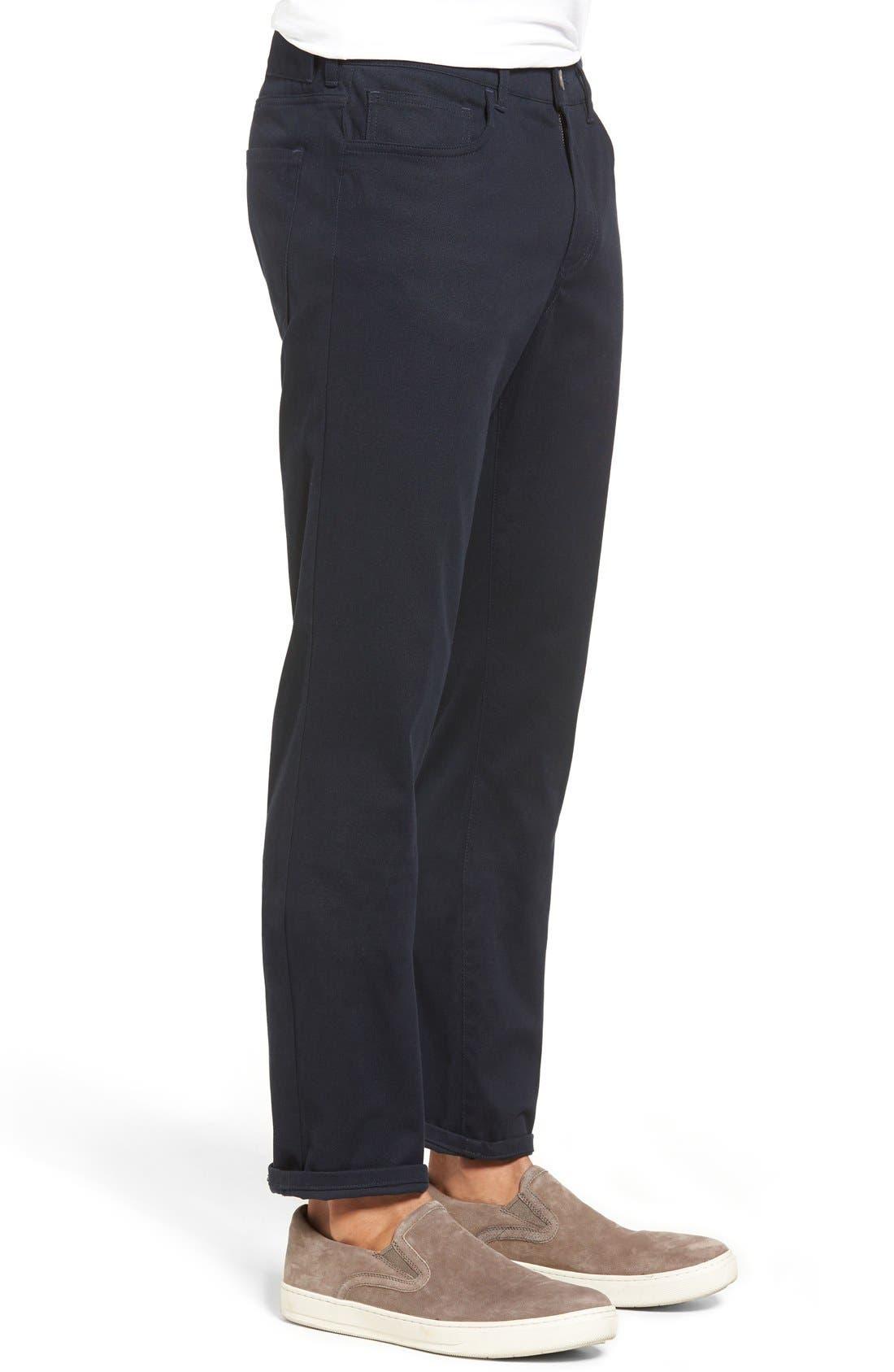 Soho Slim Fit Five-Pocket Pants,                             Alternate thumbnail 7, color,                             COASTAL