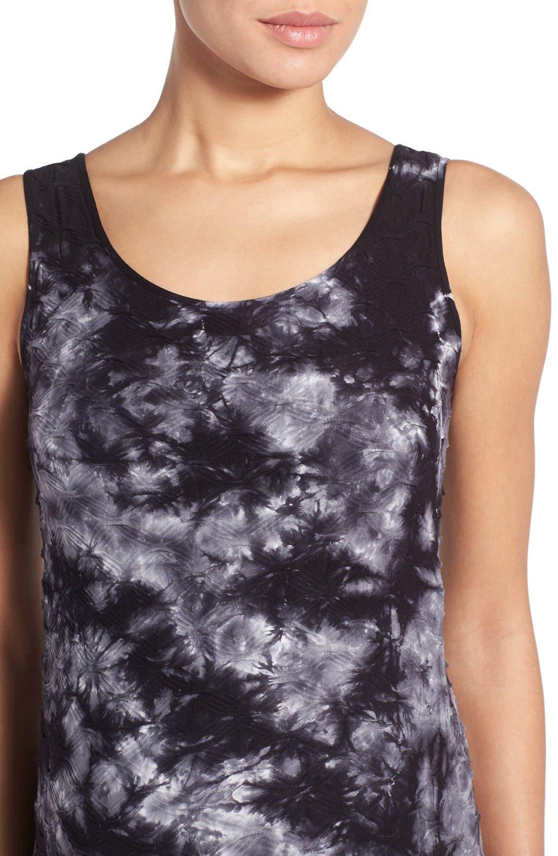 'Lattice' Tie Dye Textured Maternity Maxi Dress,                             Alternate thumbnail 5, color,                             BLACK