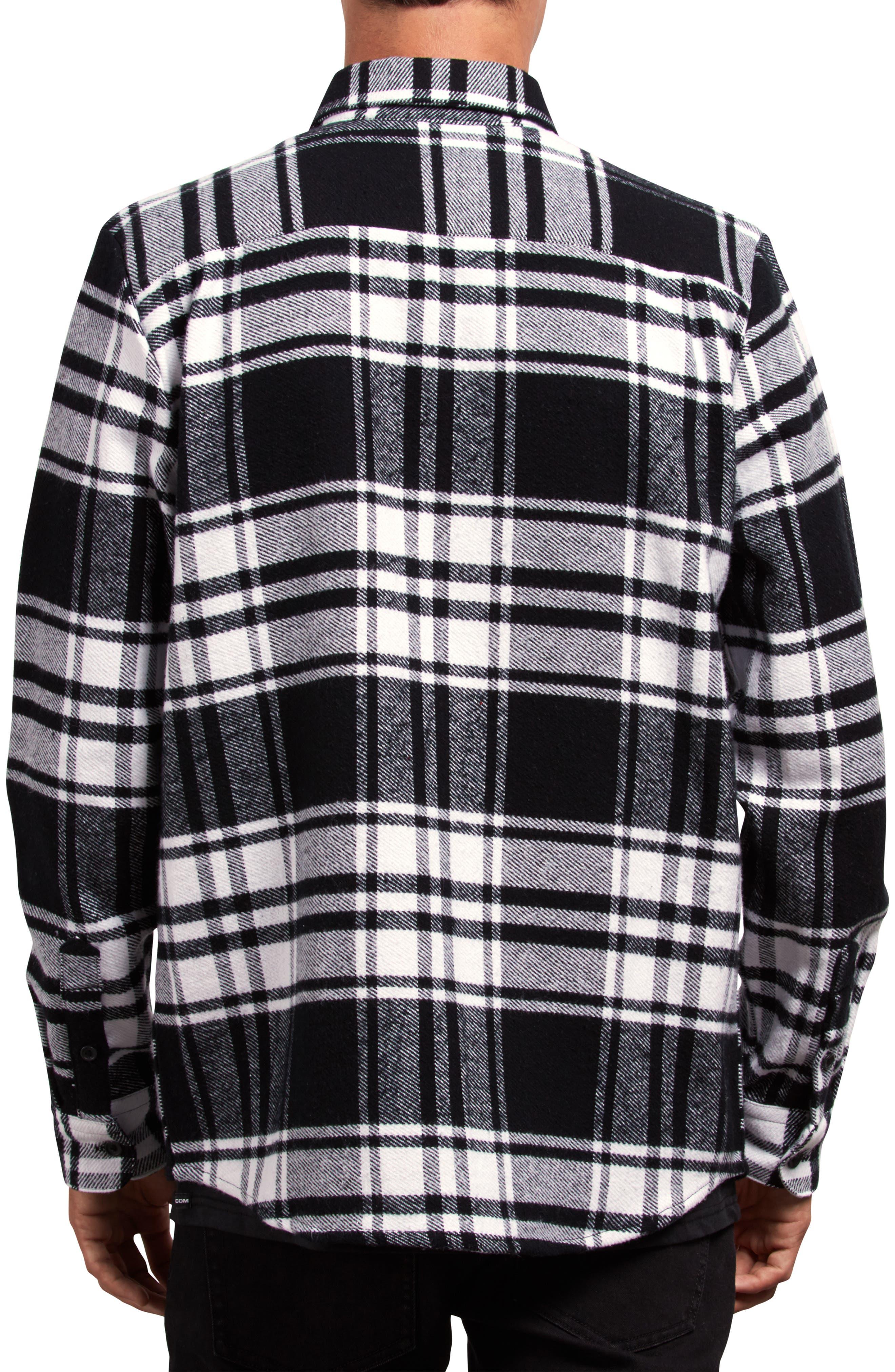 Shader Flannel Shirt,                             Alternate thumbnail 2, color,                             WHITE
