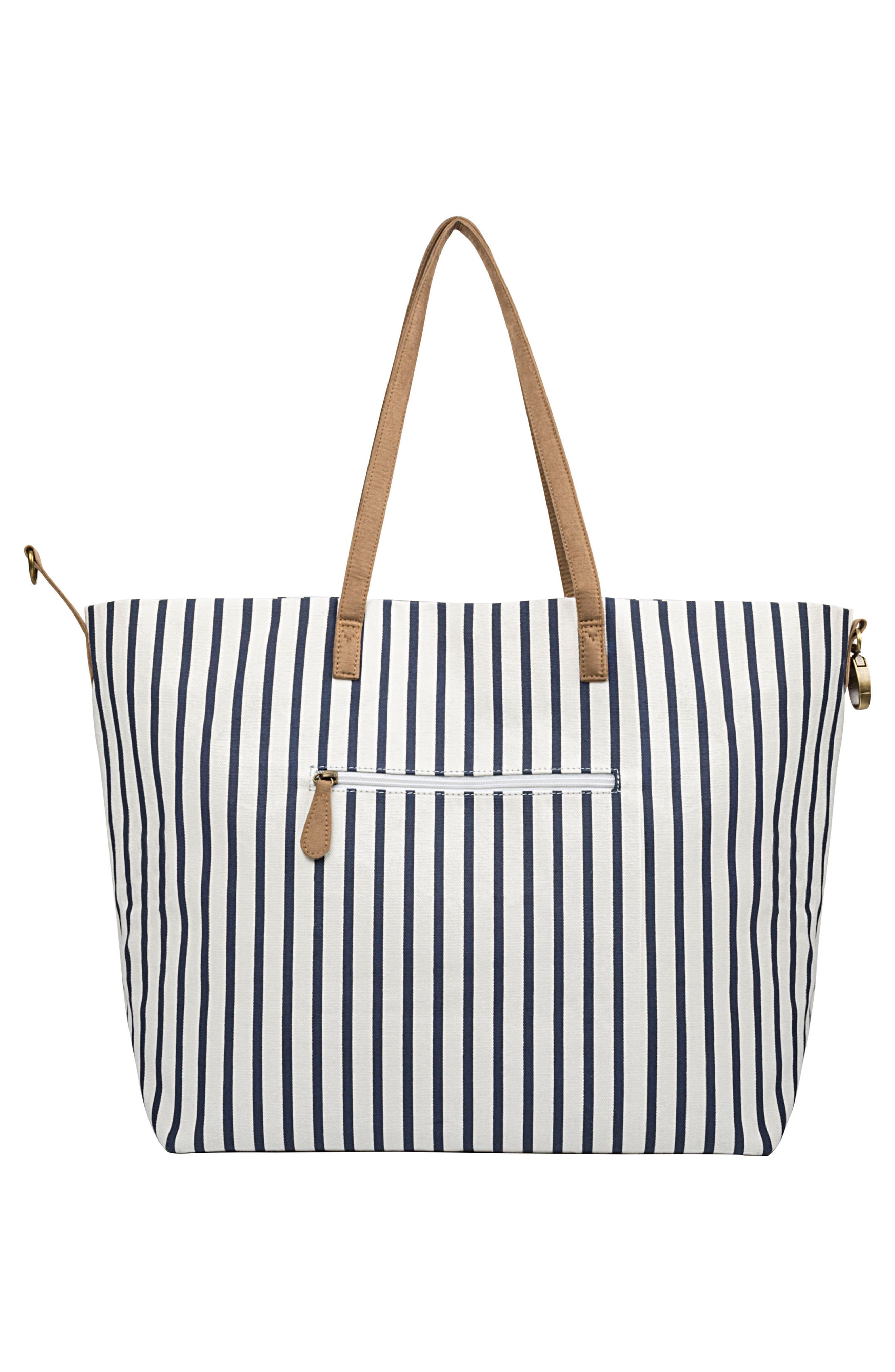CATHY'S CONCEPTS,                             Monogram Overnight Tote,                             Alternate thumbnail 3, color,                             BLUE