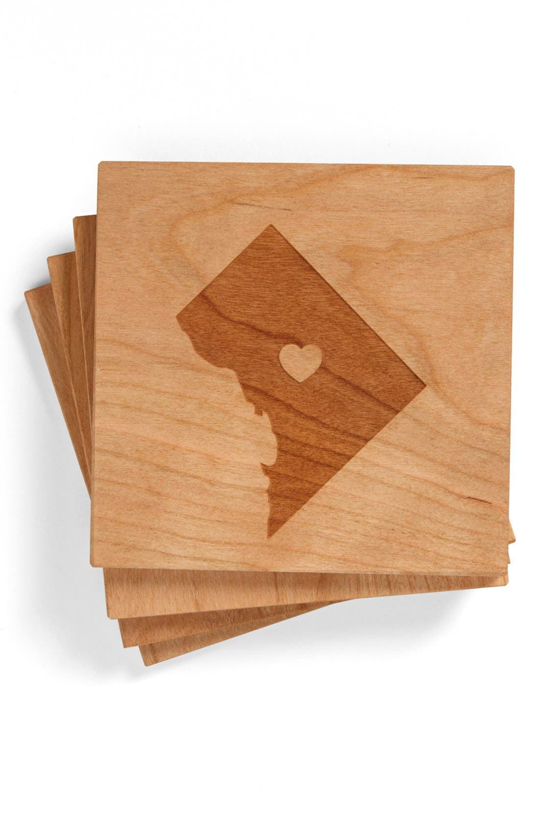 'State Silhouette' Coasters,                             Main thumbnail 12, color,