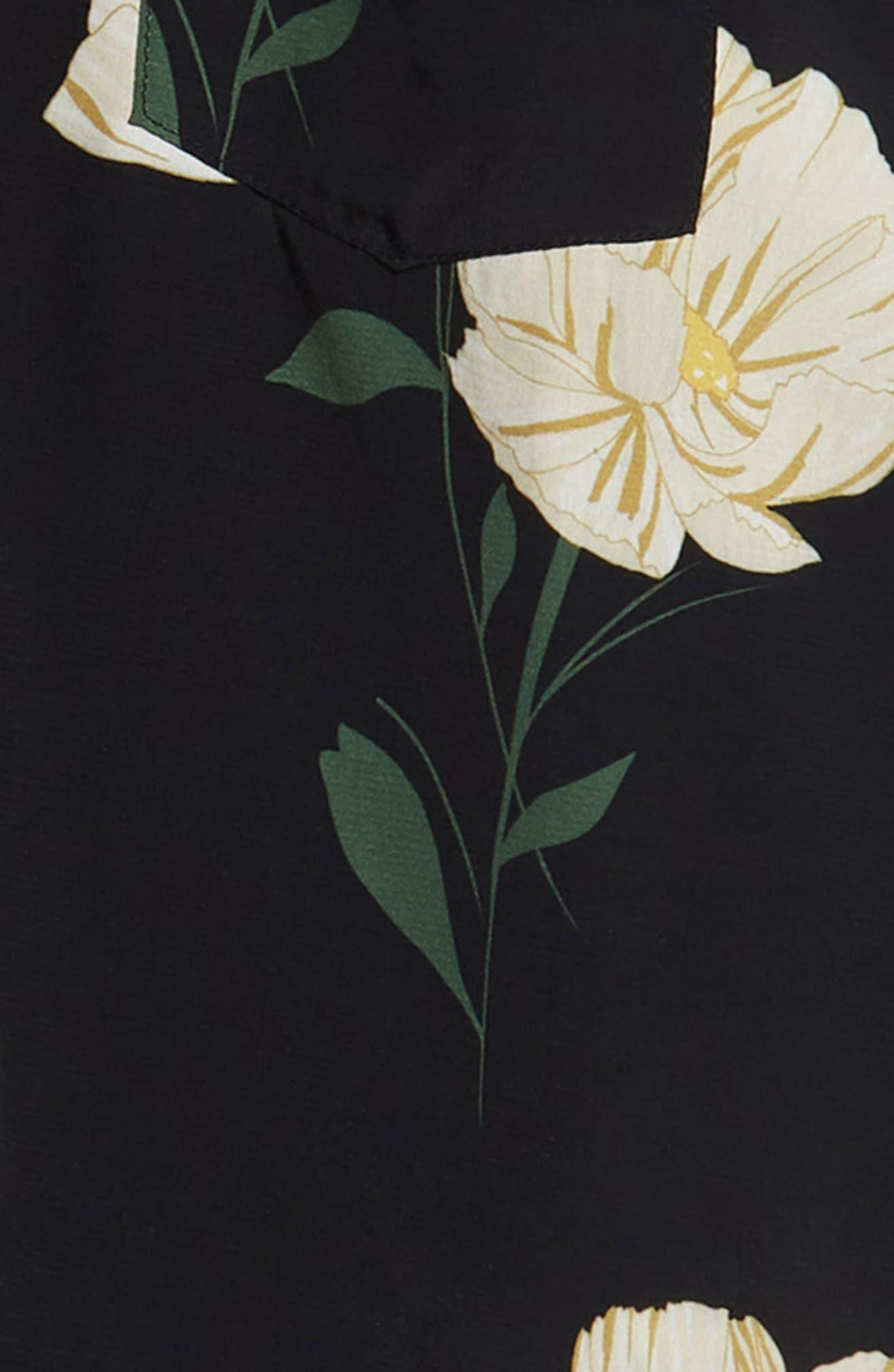 Print Sport Shirt,                             Alternate thumbnail 6, color,                             WHITE FLOWER PRINT