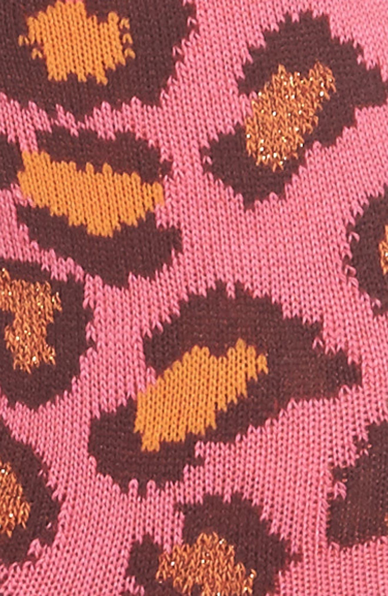 Edie Leopard Crew Socks,                             Alternate thumbnail 2, color,                             684