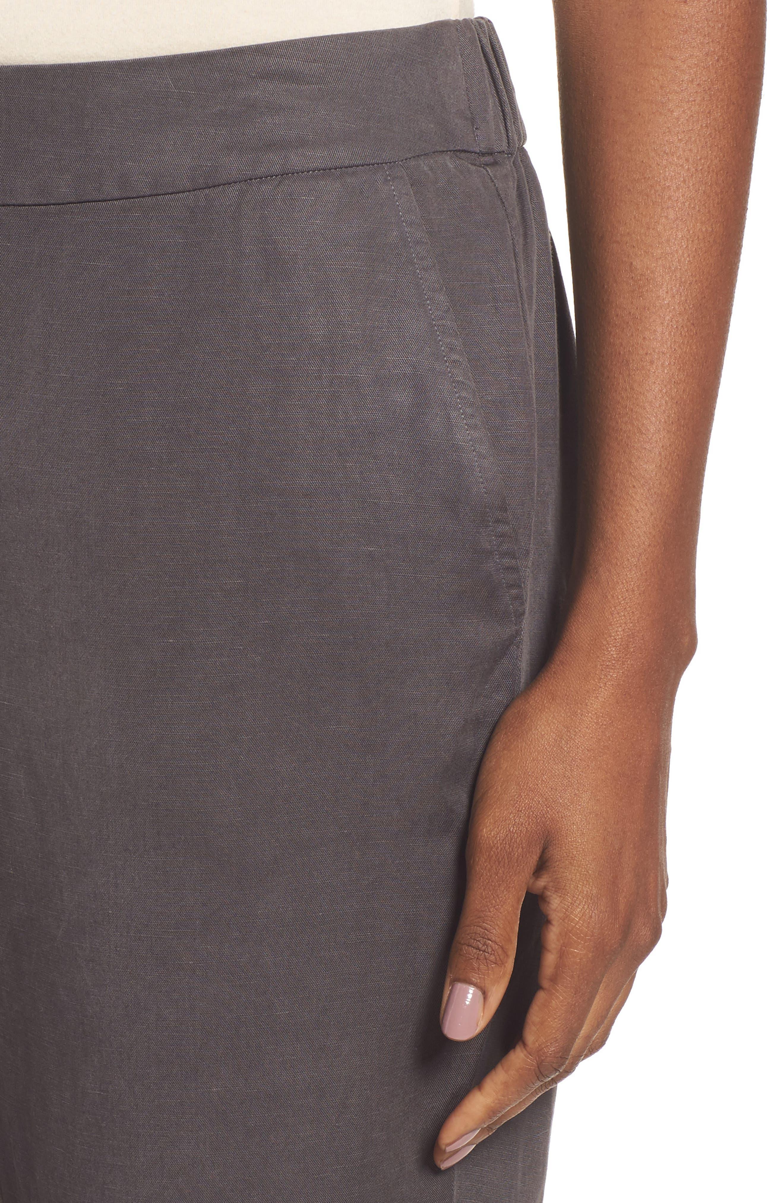 Tencel<sup>®</sup> & Linen Ankle Pants,                             Alternate thumbnail 8, color,