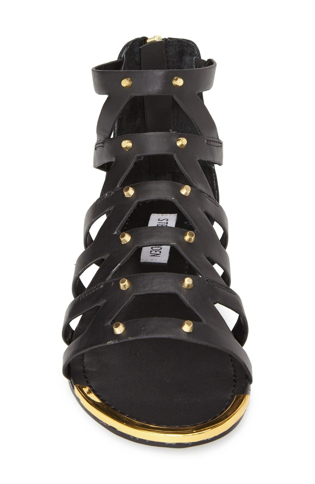 'Claudiaa' Studded Gladiator Sandal,                             Alternate thumbnail 2, color,                             005