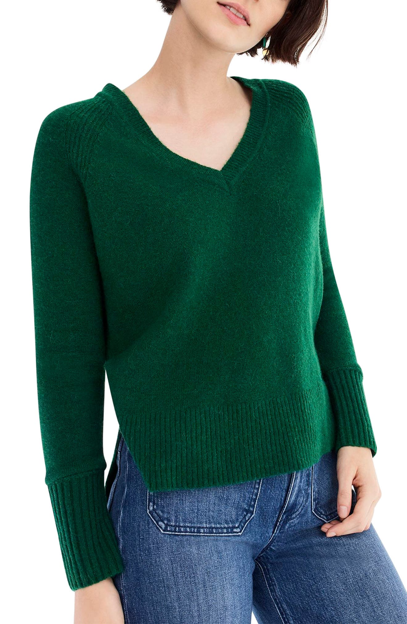 Supersoft Yarn V-Neck Sweater,                             Alternate thumbnail 21, color,