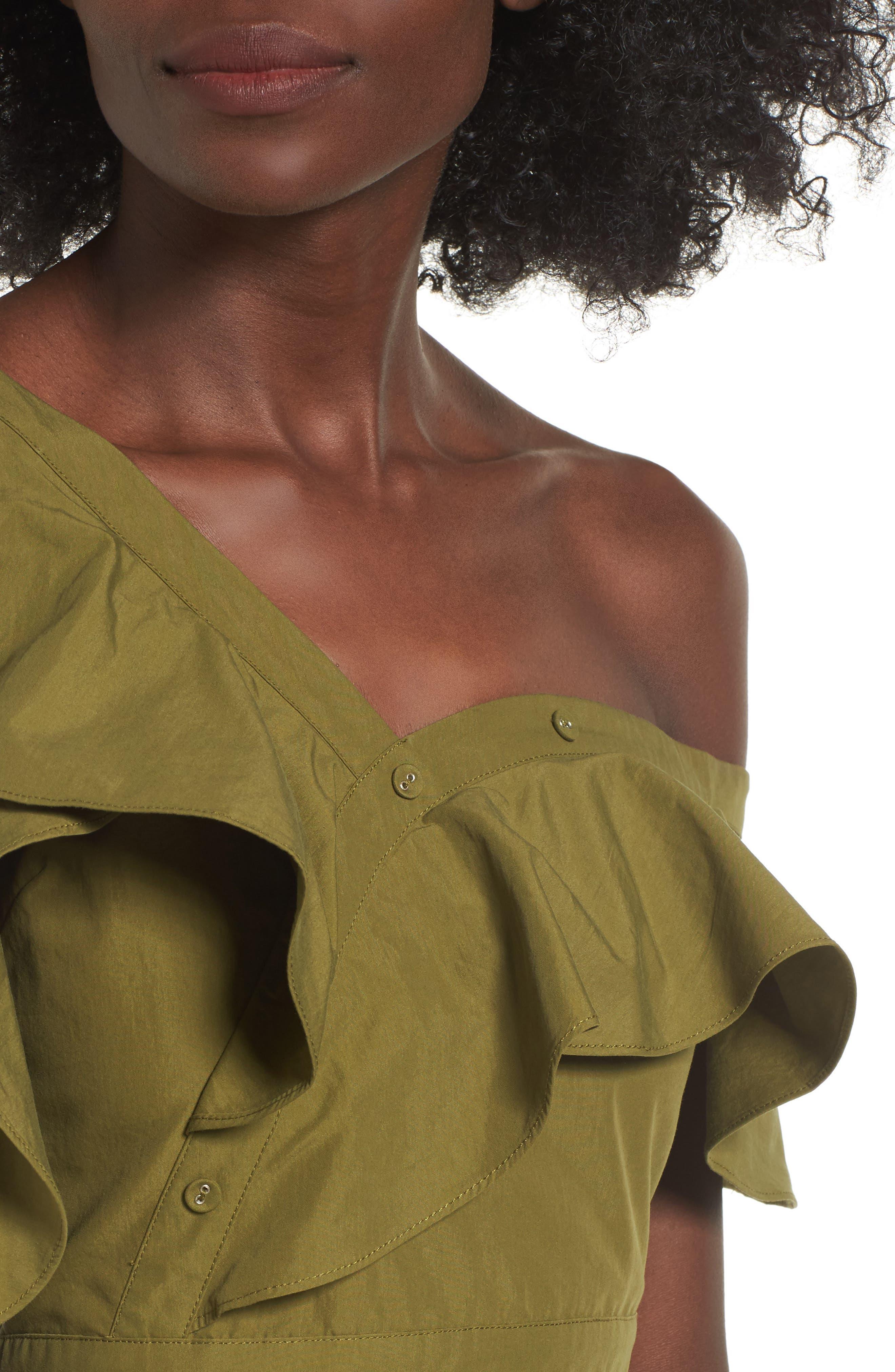 Ruffle Dress,                             Alternate thumbnail 4, color,                             300