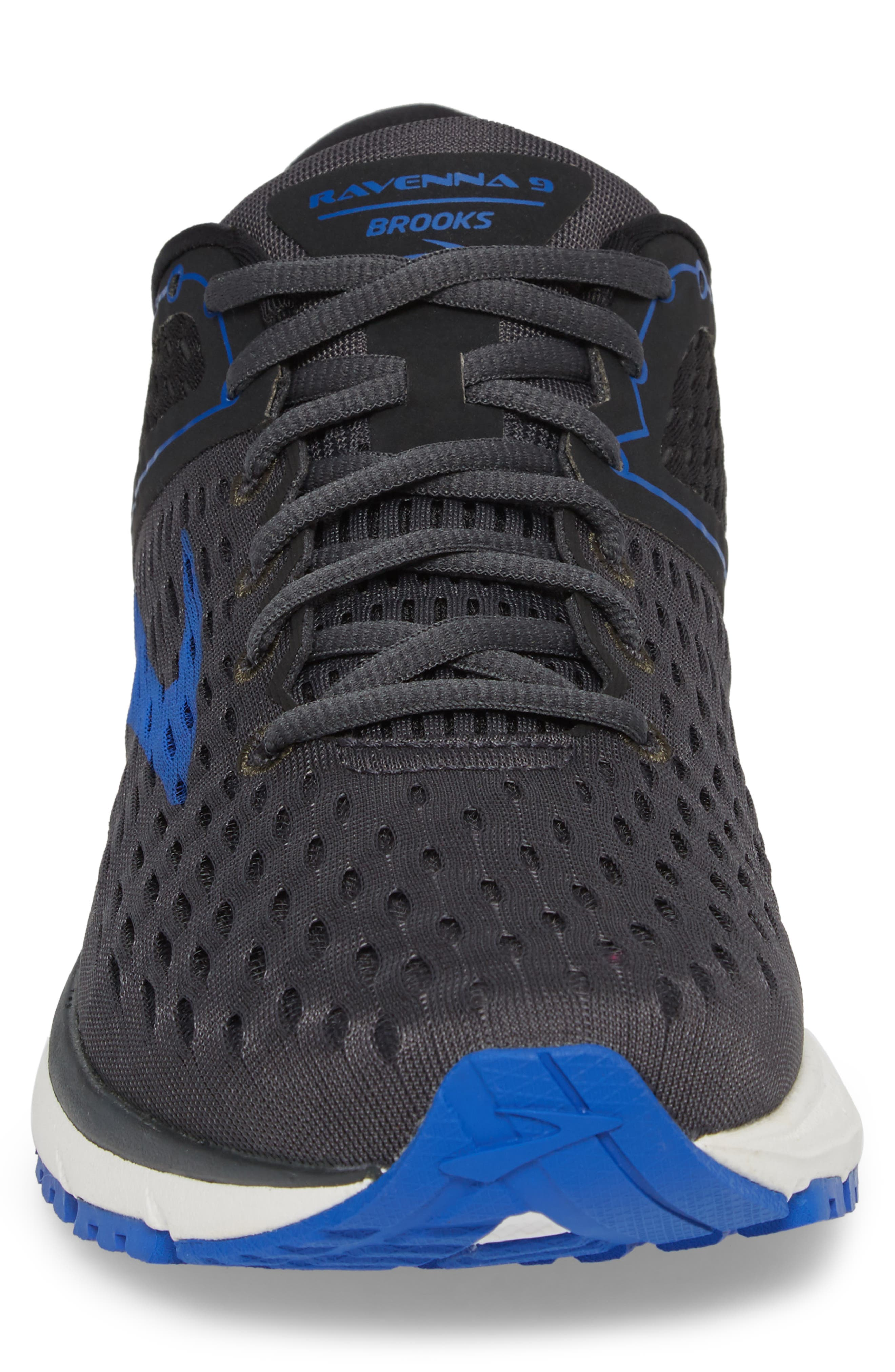 Ravenna 9 Running Shoe,                             Alternate thumbnail 4, color,                             EBONY/ BLUE/ ORANGE