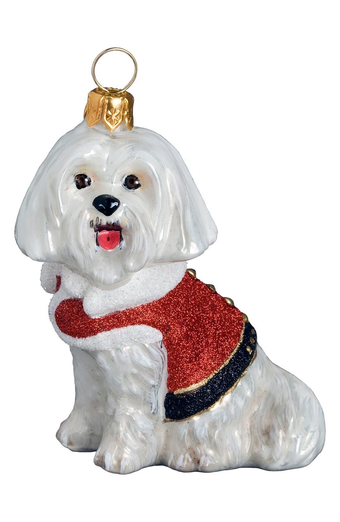 'Santa Paws' Ornament,                         Main,                         color, MALTESE