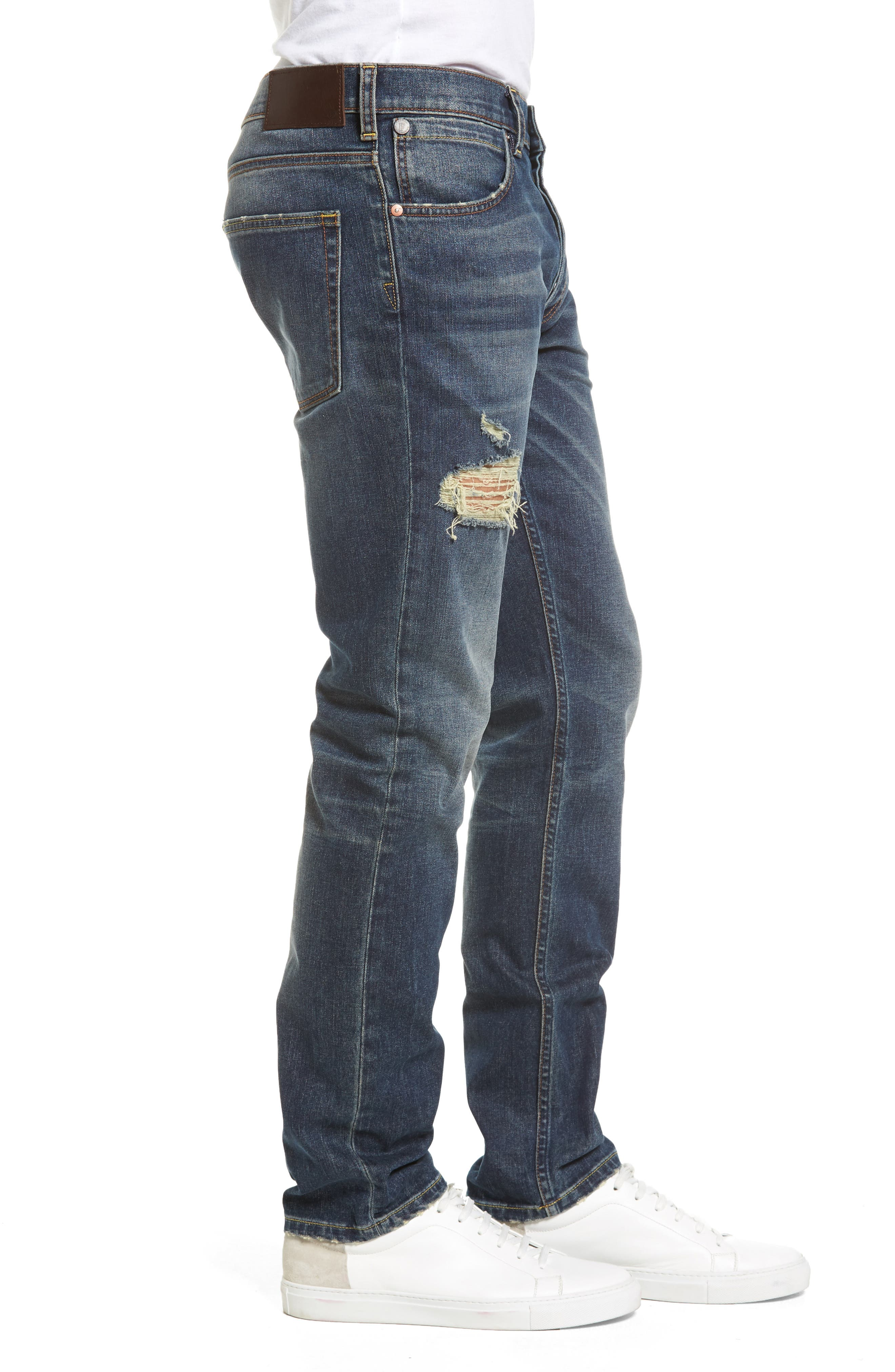 Slim Fit Distressed Jeans,                             Alternate thumbnail 3, color,                             420