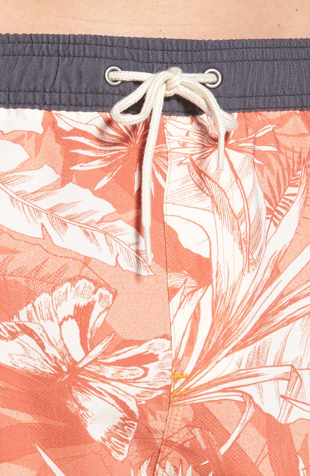 Sunset Board Shorts,                             Alternate thumbnail 4, color,                             214