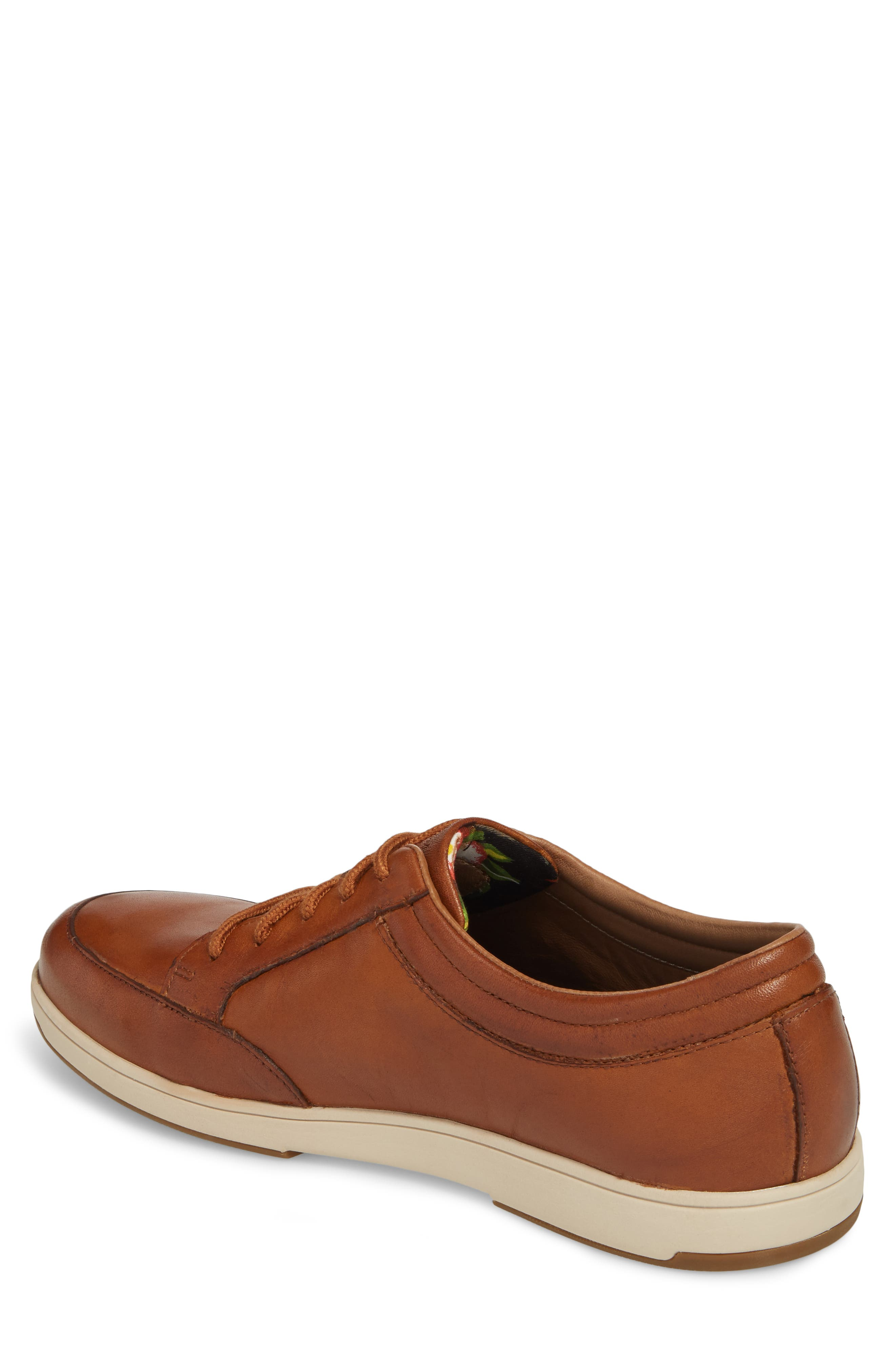 Caicos Authentic Low Top Sneaker,                             Alternate thumbnail 2, color,                             TAN LEATHER