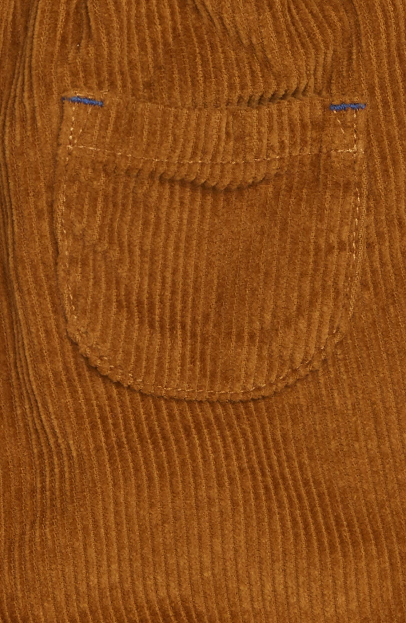 Lined Corduroy Trousers,                             Alternate thumbnail 3, color,                             TEDDY BEAR BROWN