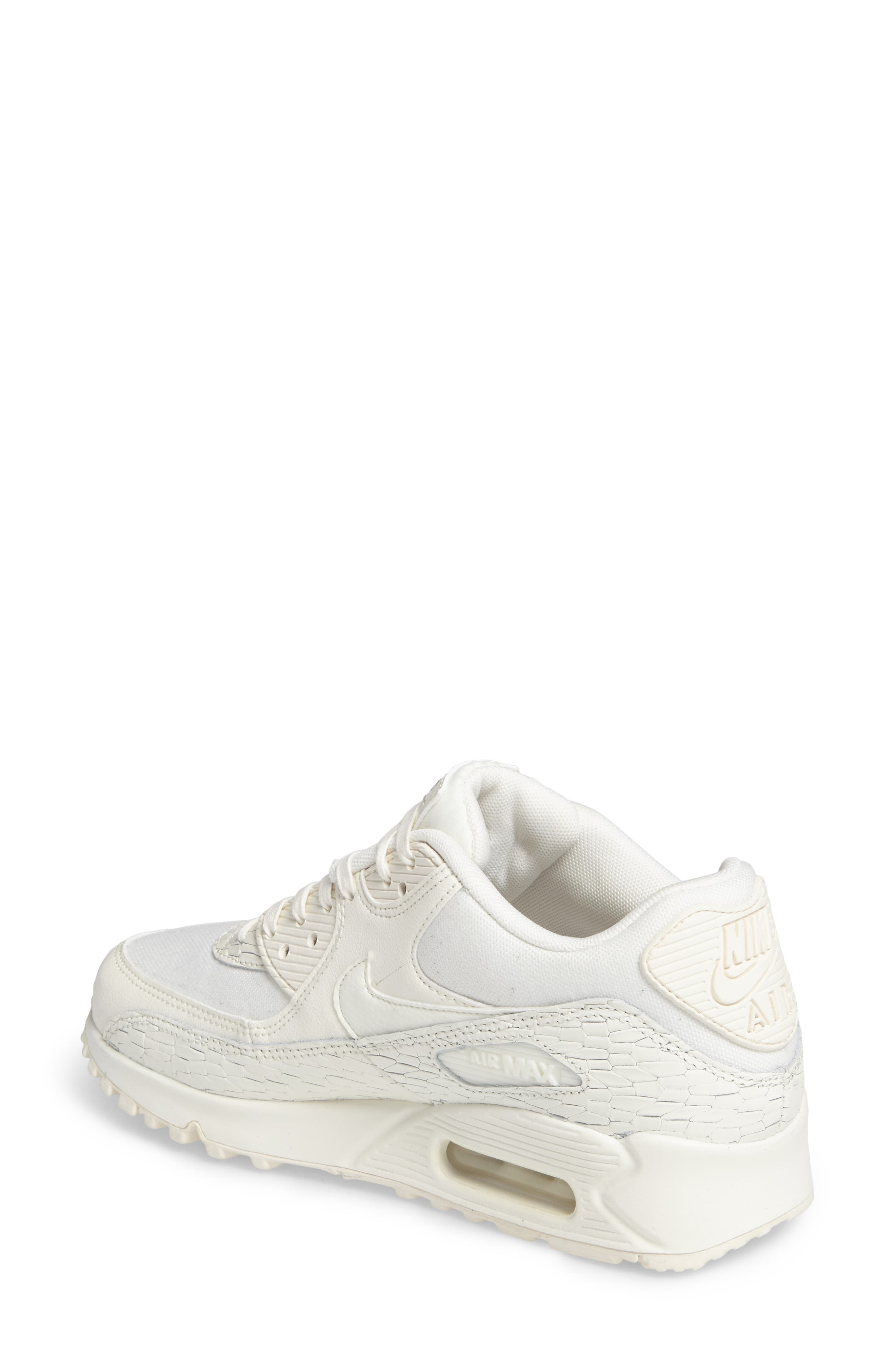 Air Max 90 Premium Leather Sneaker,                             Alternate thumbnail 2, color,                             250