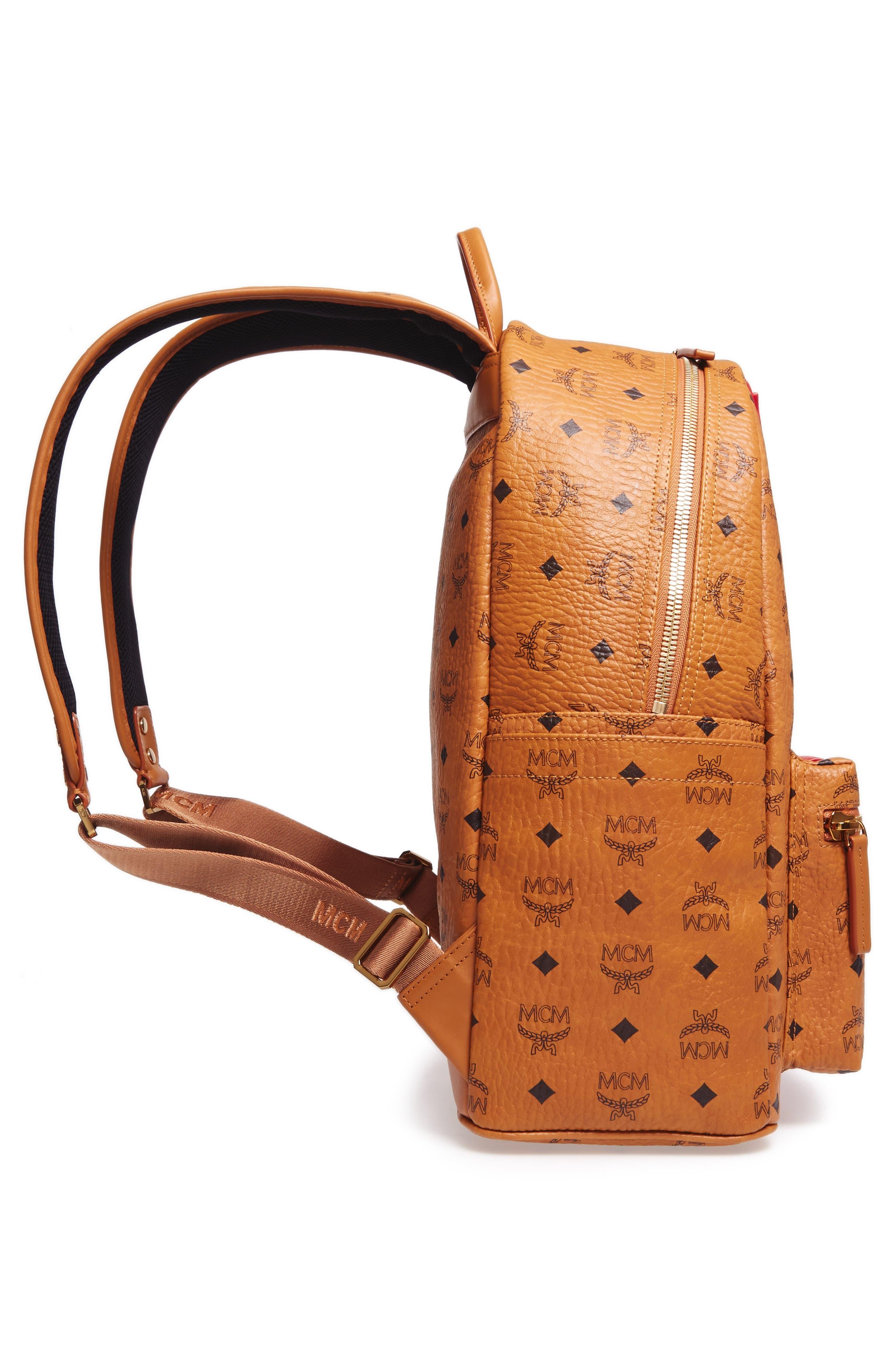 Stark Stripe Faux Leather Backpack,                             Alternate thumbnail 5, color,                             210
