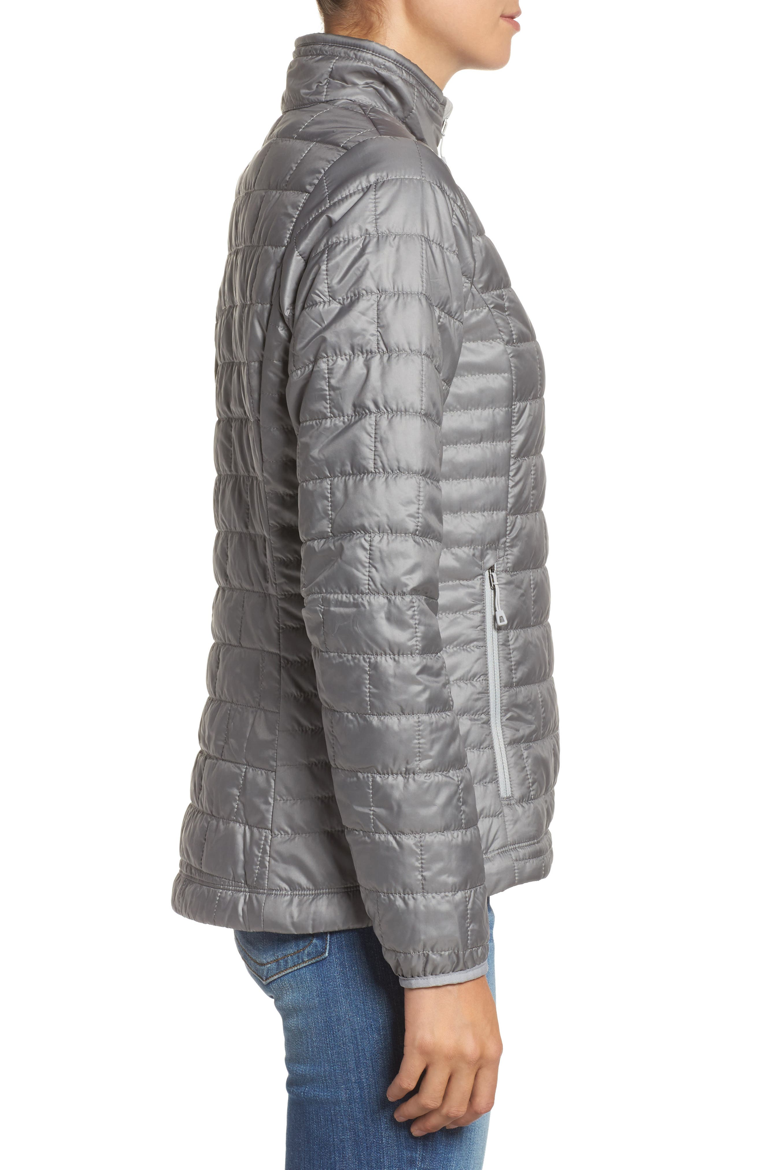 Nano Puff<sup>®</sup> Water Resistant Jacket,                             Alternate thumbnail 3, color,                             FEATHER GREY