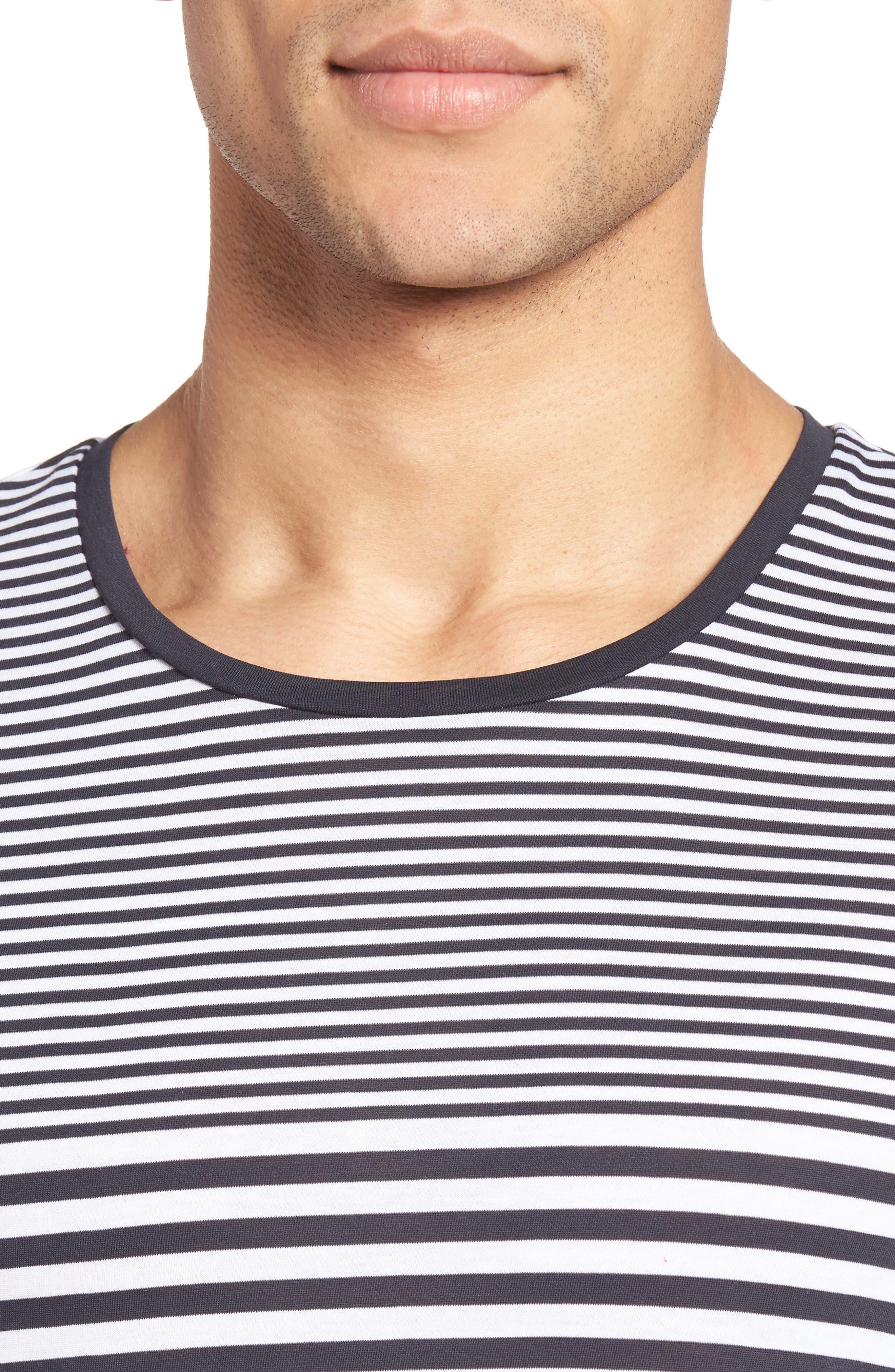 Tessler Slim Fit Stripe T-Shirt,                             Alternate thumbnail 8, color,