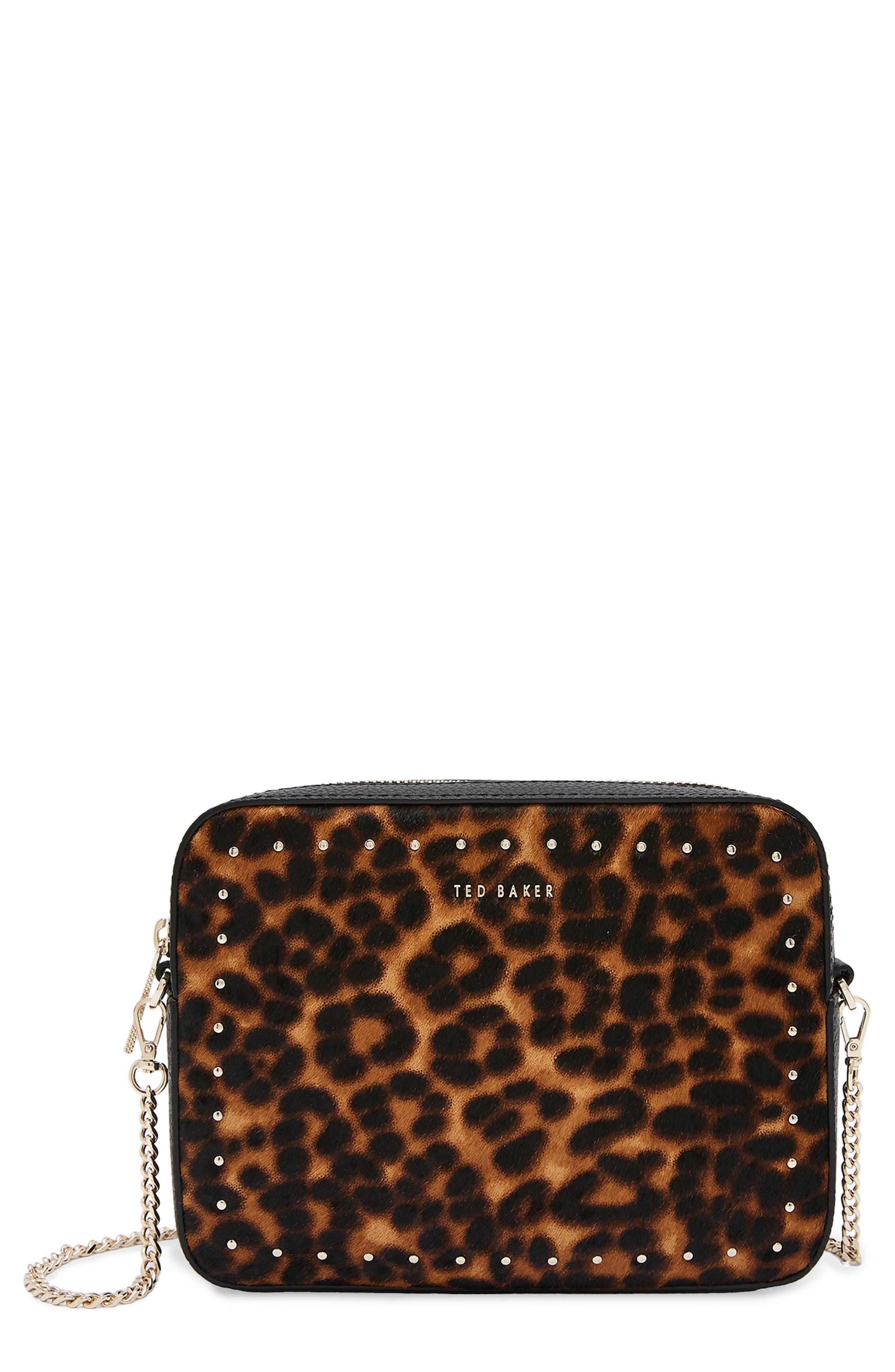 Savanna Leather Crossbody Bag - Black