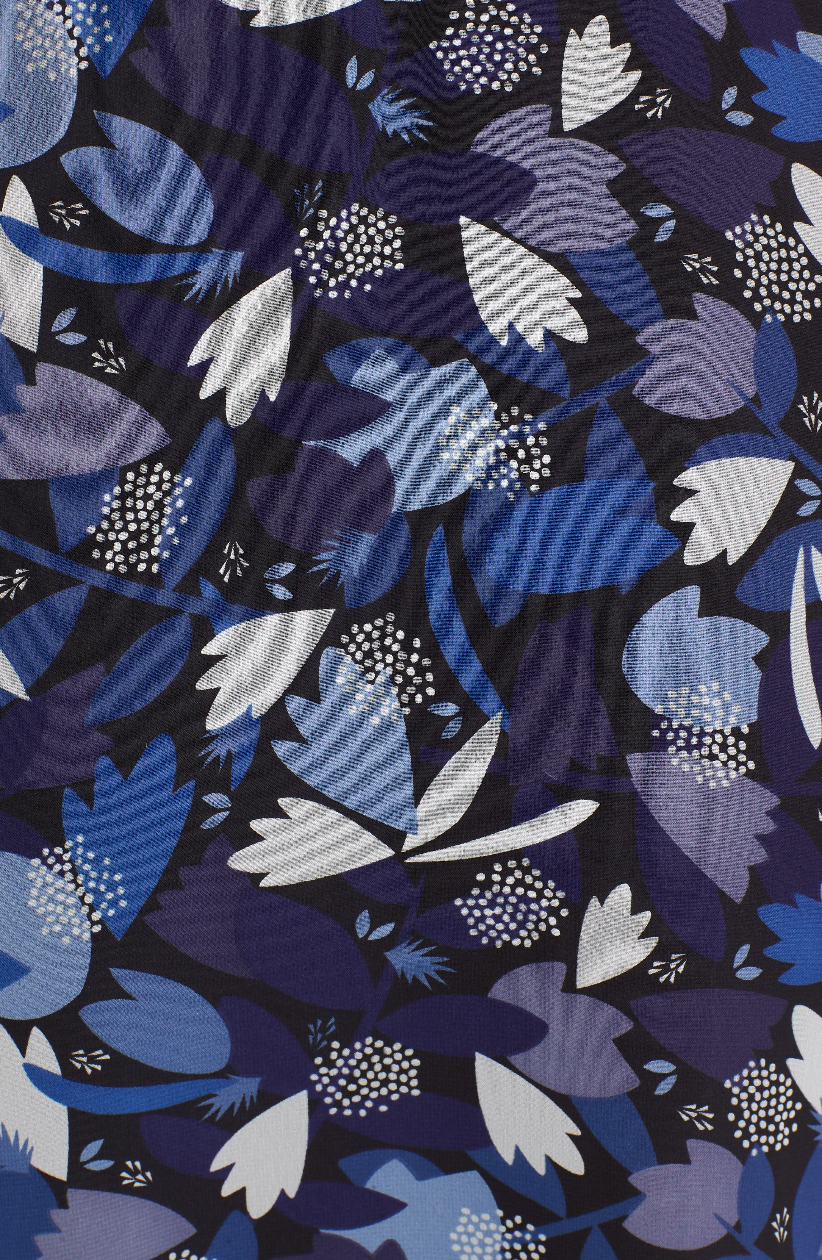 Amalfi Print Chiffon Dress,                             Alternate thumbnail 5, color,