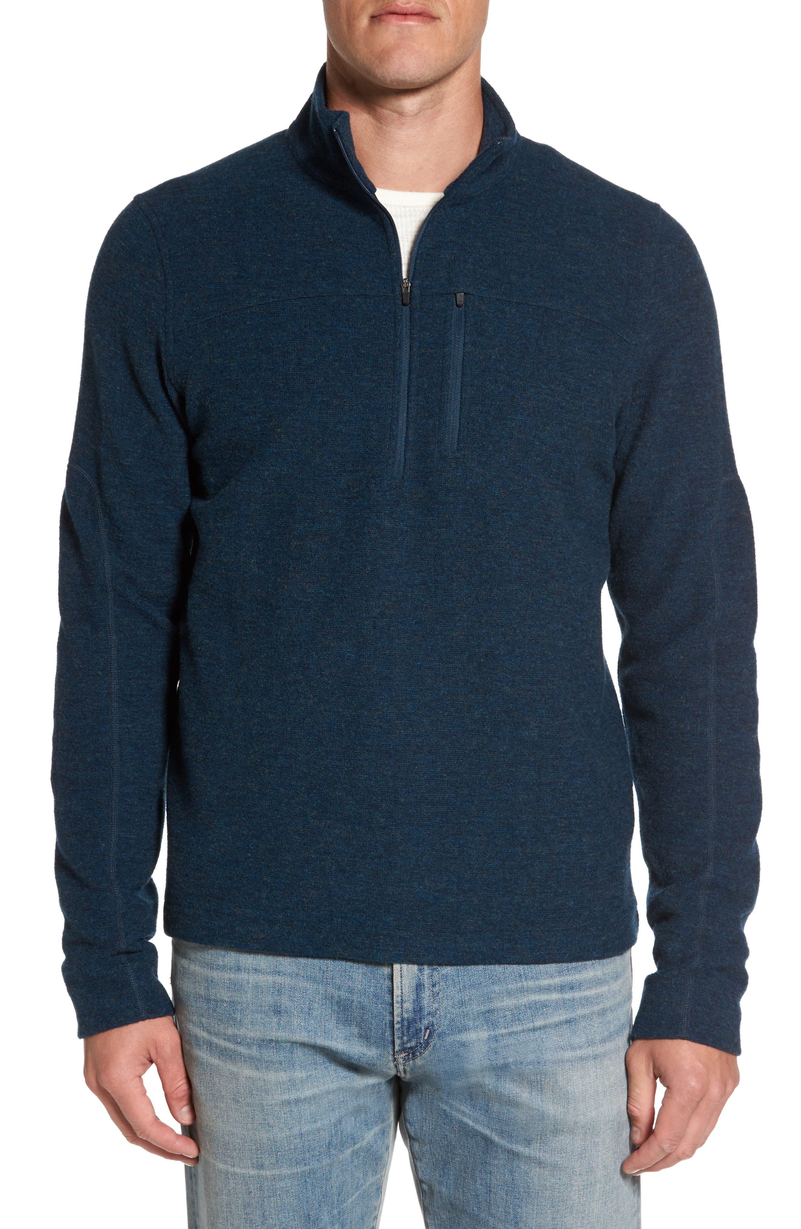 Scout Jura Merino Wool Blend Quarter Zip Pullover,                             Main thumbnail 4, color,