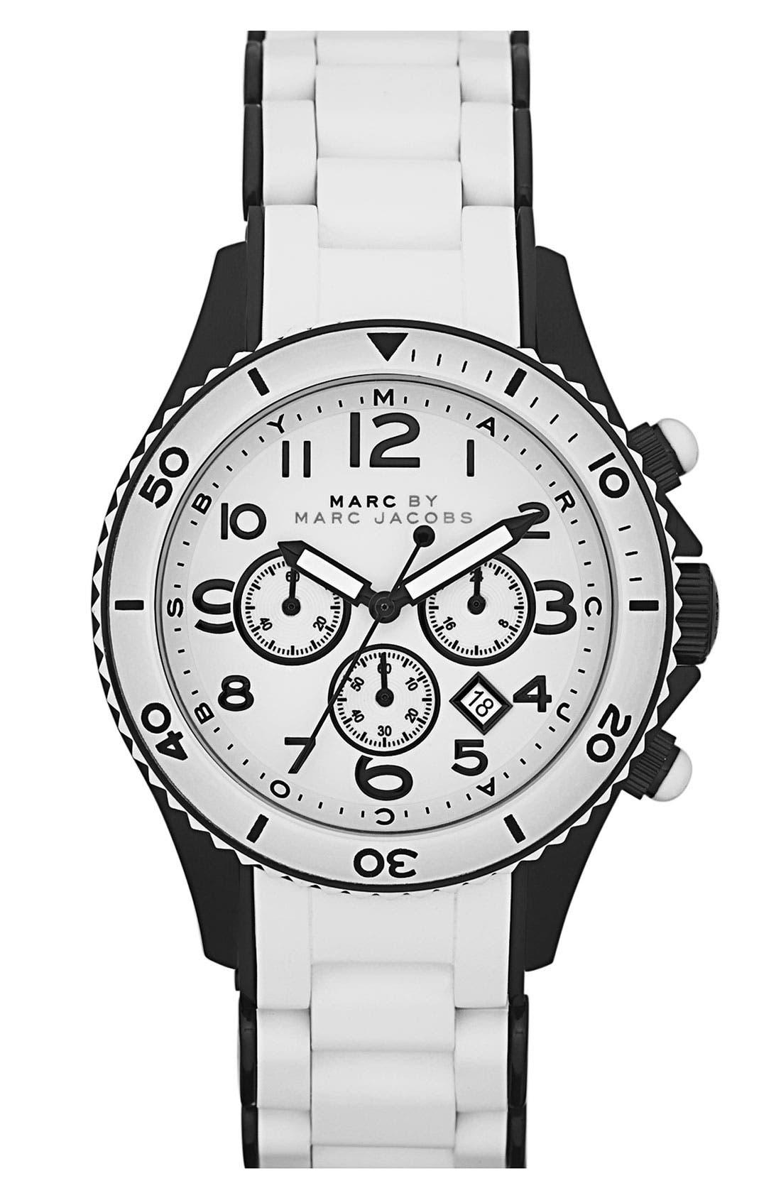 'Rock' Chronograph Silicone Bracelet Watch, 40mm,                             Main thumbnail 7, color,