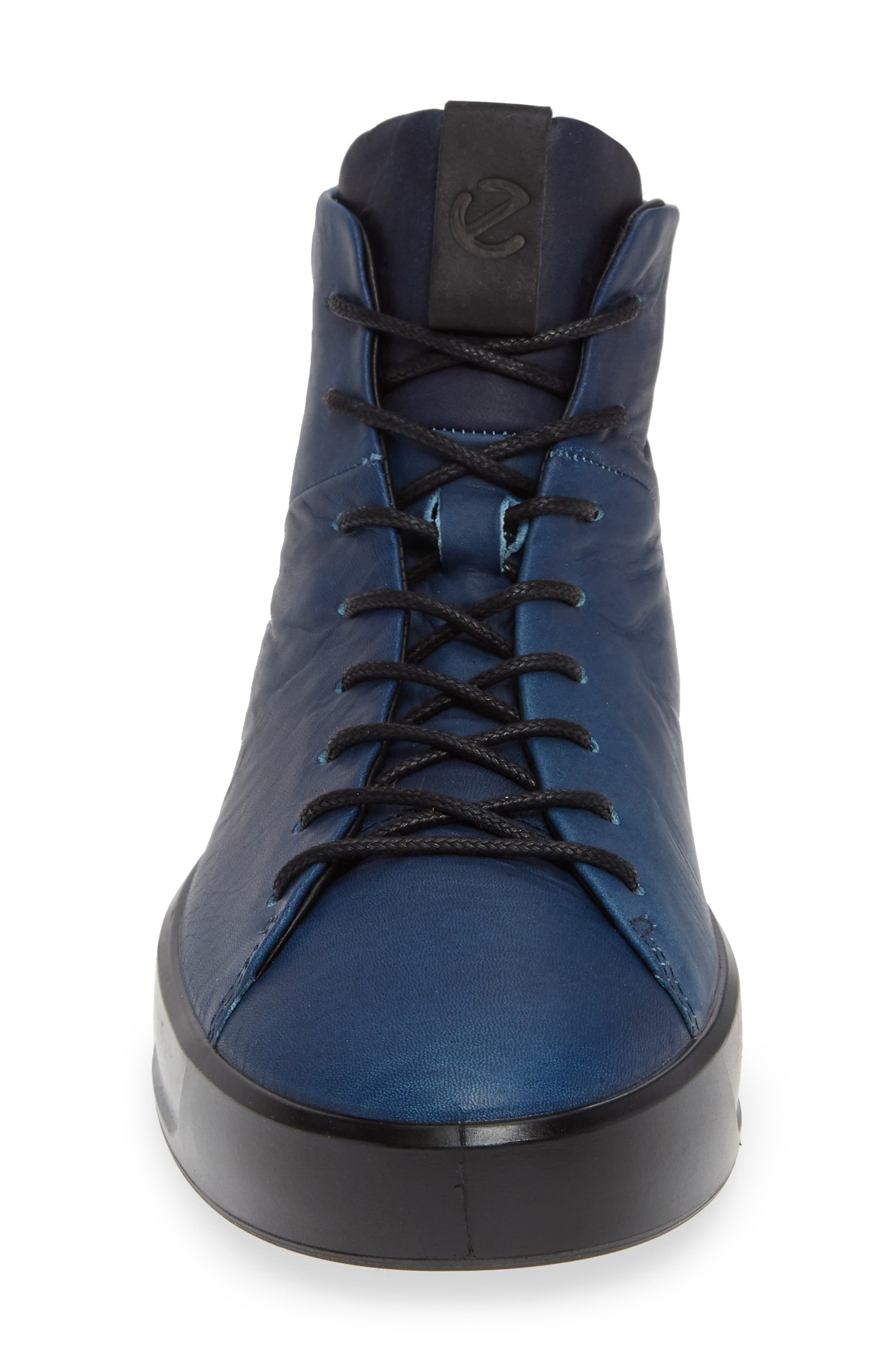 Soft 8 Sneaker,                             Alternate thumbnail 4, color,                             INDIGO LEATHER