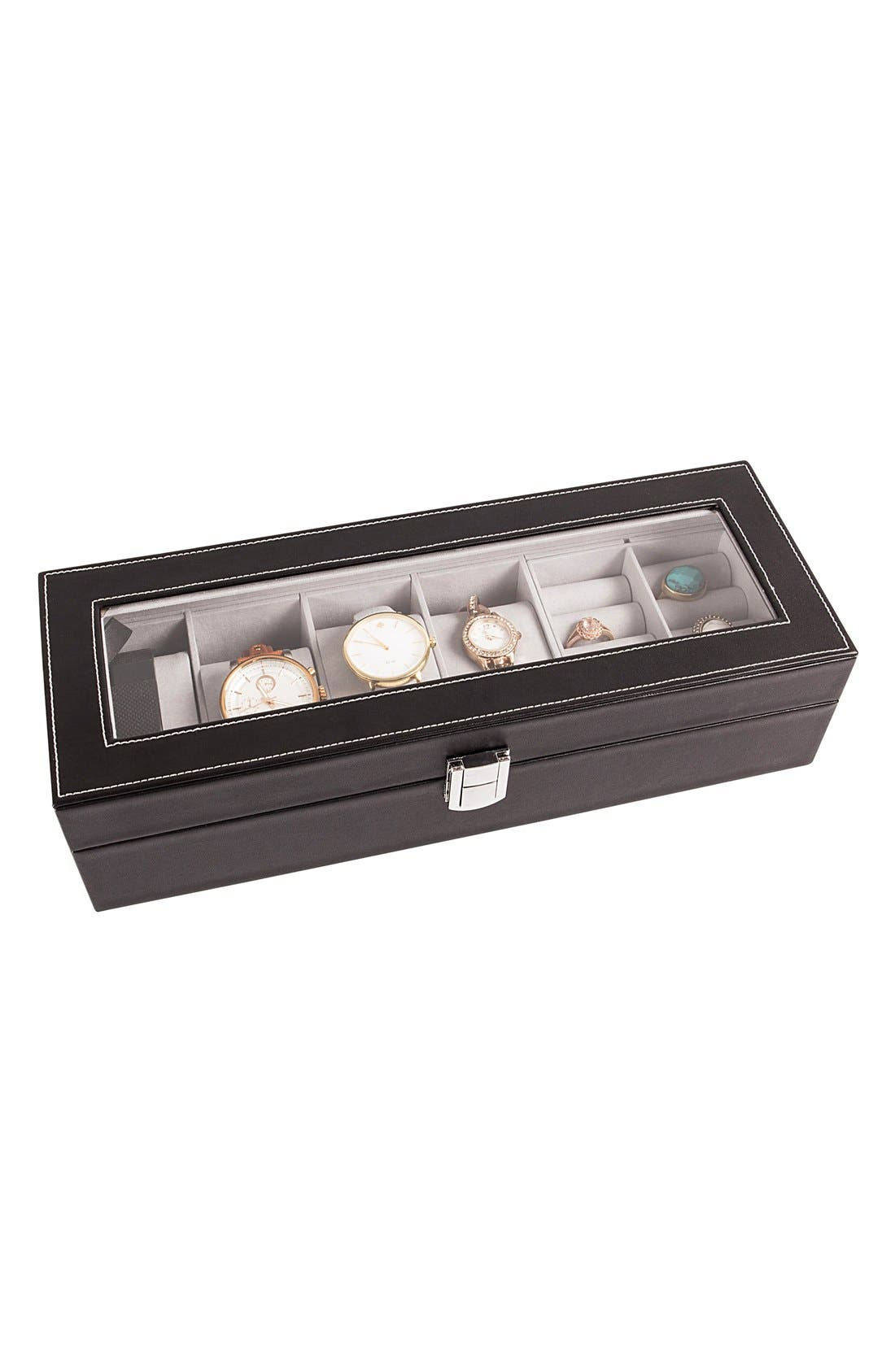 Monogram Watch & Jewelry Case,                             Main thumbnail 1, color,                             001