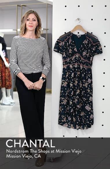 Floral Pleat & Lace Mix Dress, sales video thumbnail