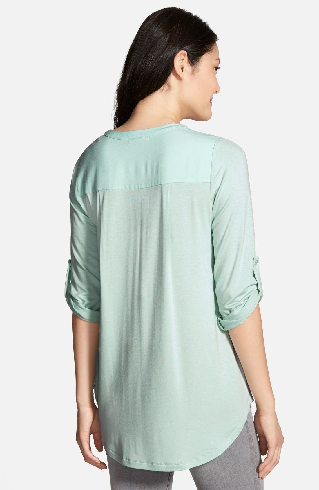 Mixed Media V-Neck Tunic,                             Alternate thumbnail 118, color,