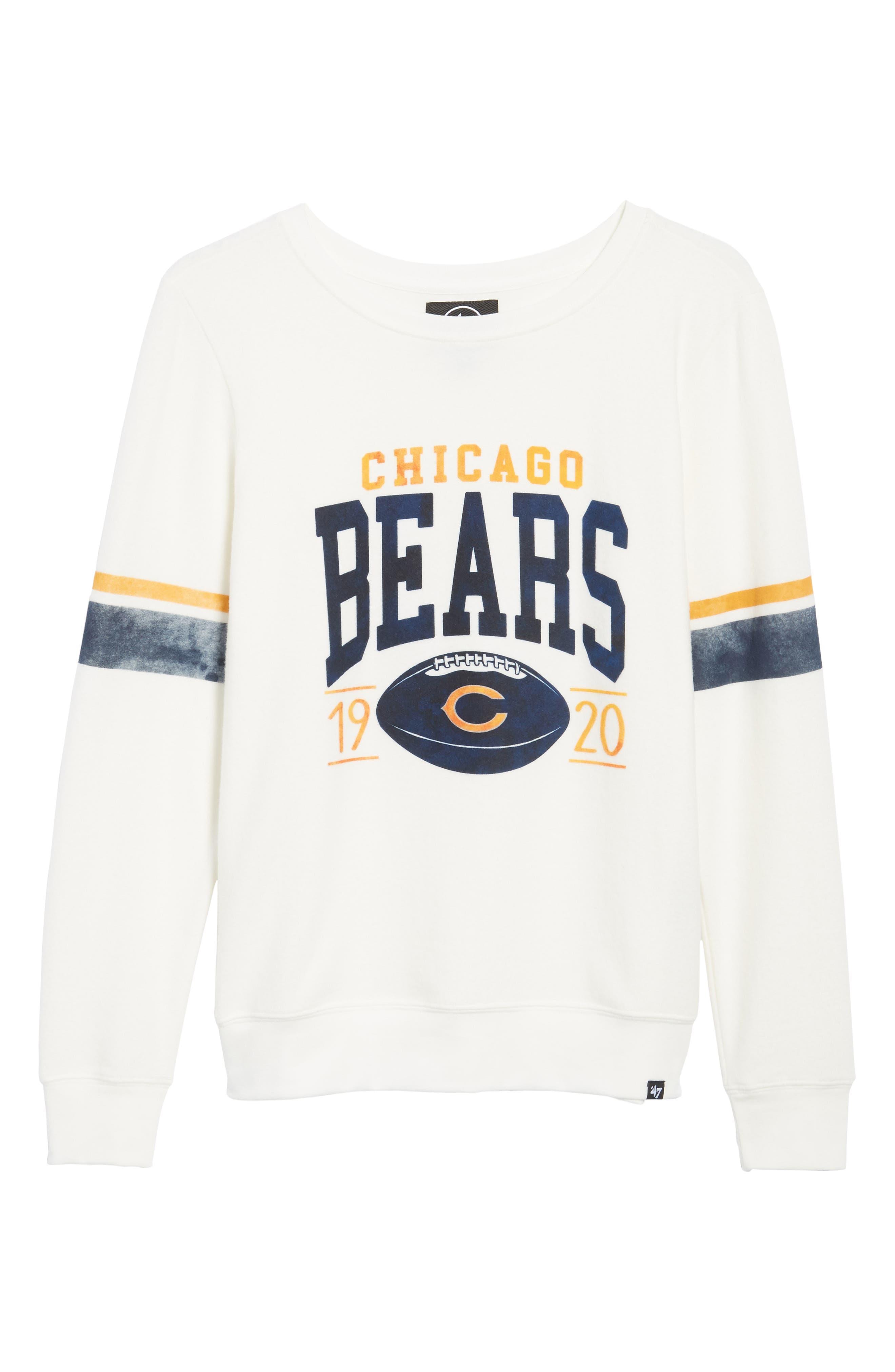 Chicago Bears Throwback Sweatshirt,                             Alternate thumbnail 6, color,                             100