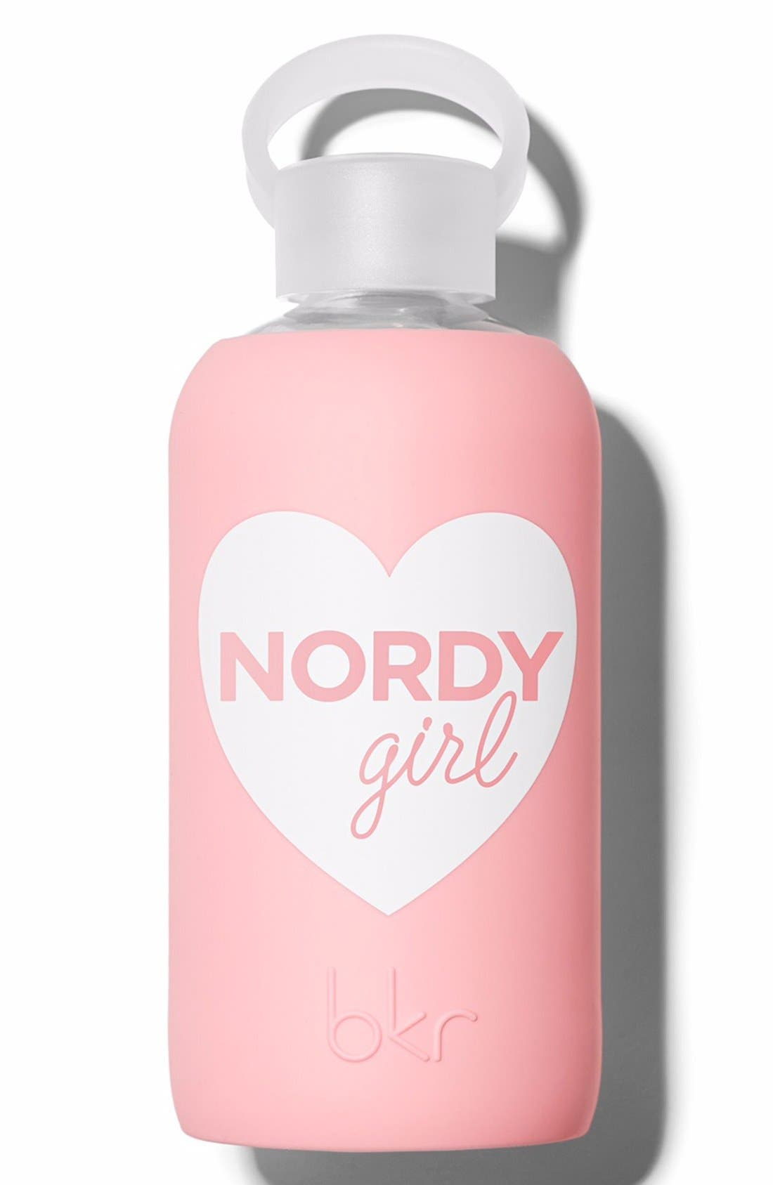 Nordy Girl 16-Ounce Glass Water Bottle,                             Main thumbnail 1, color,                             000