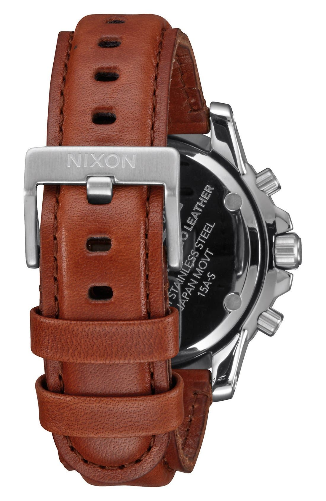 'The Ranger' Chronograph Leather Strap Watch, 44mm,                             Alternate thumbnail 6, color,