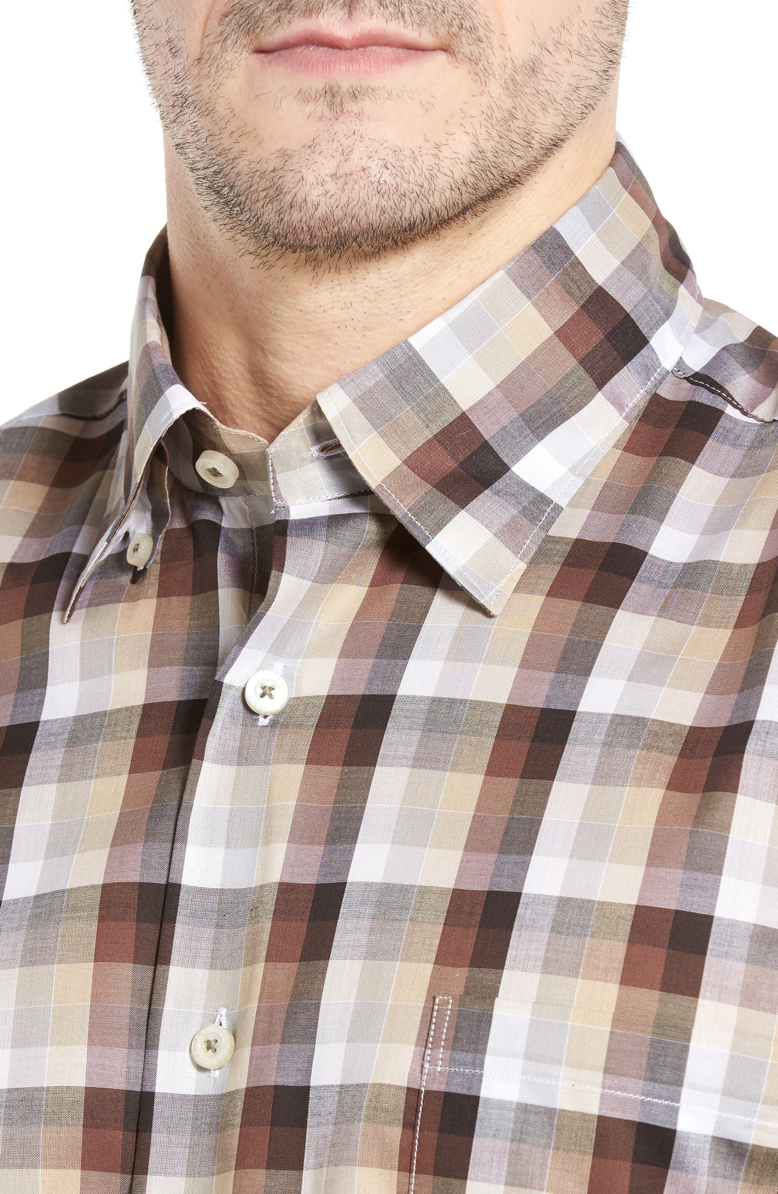 Anderson Classic Fit Check Sport Shirt,                             Alternate thumbnail 4, color,                             200